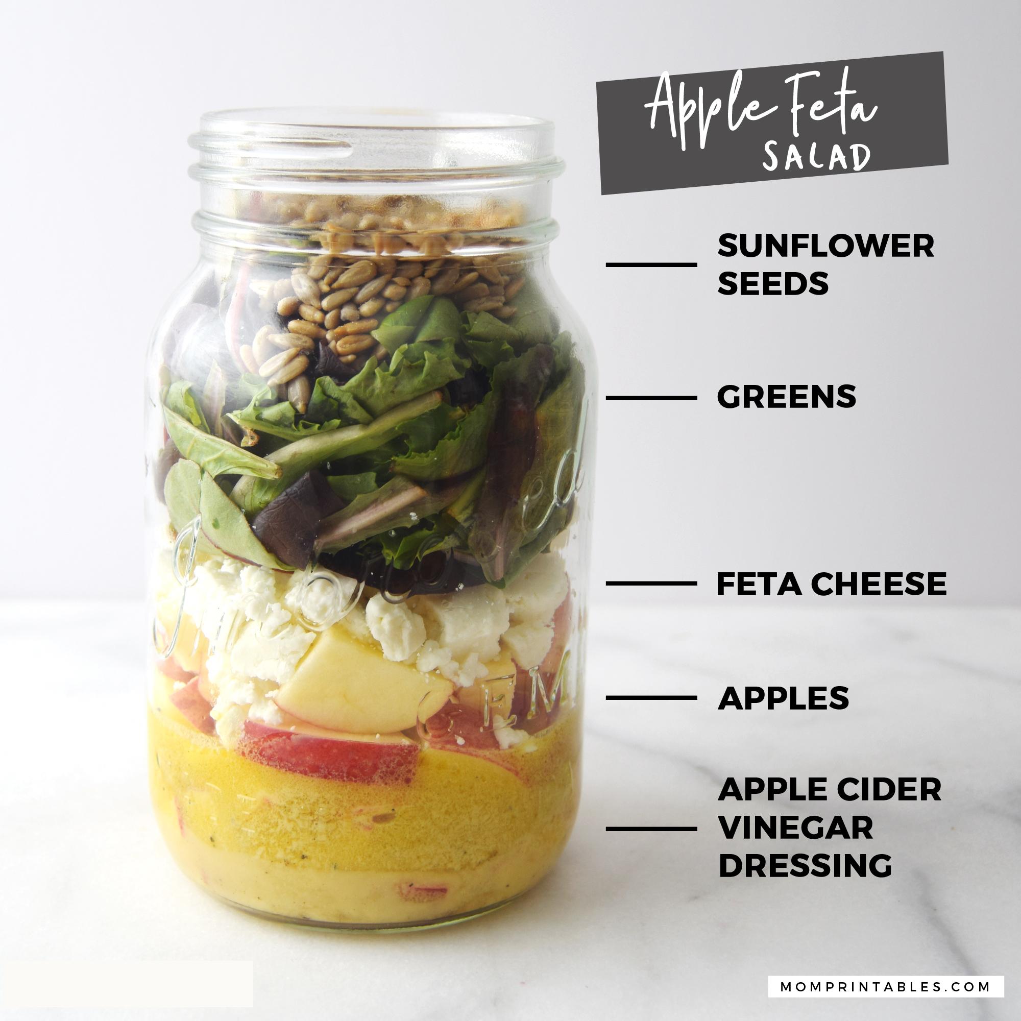 Mason Jar Salad - Feta Salad
