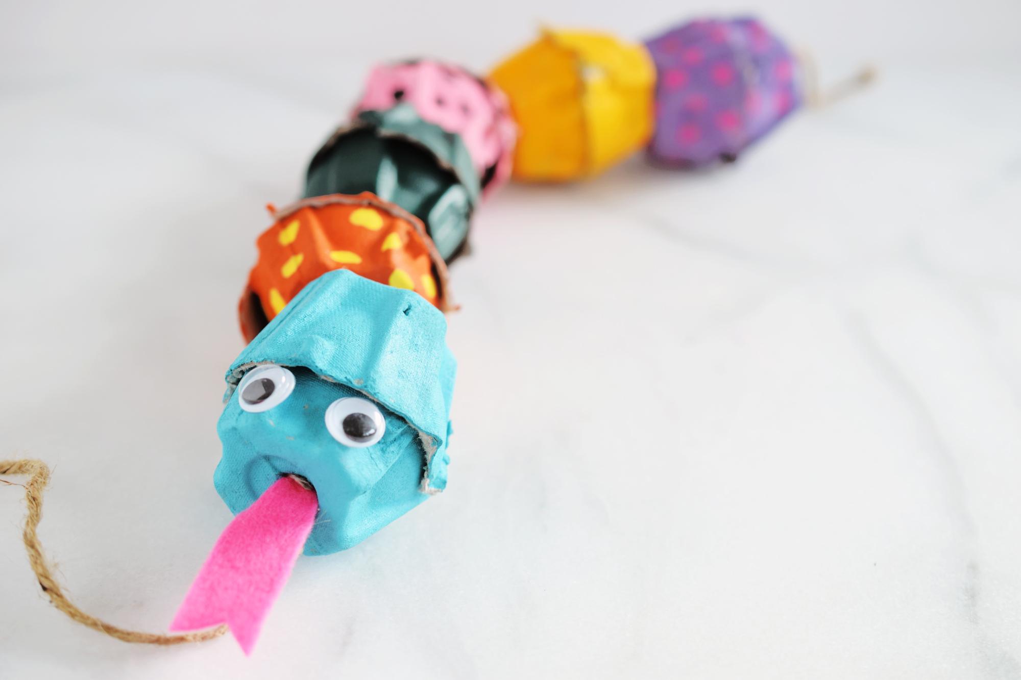 Egg Carton Snake Craft