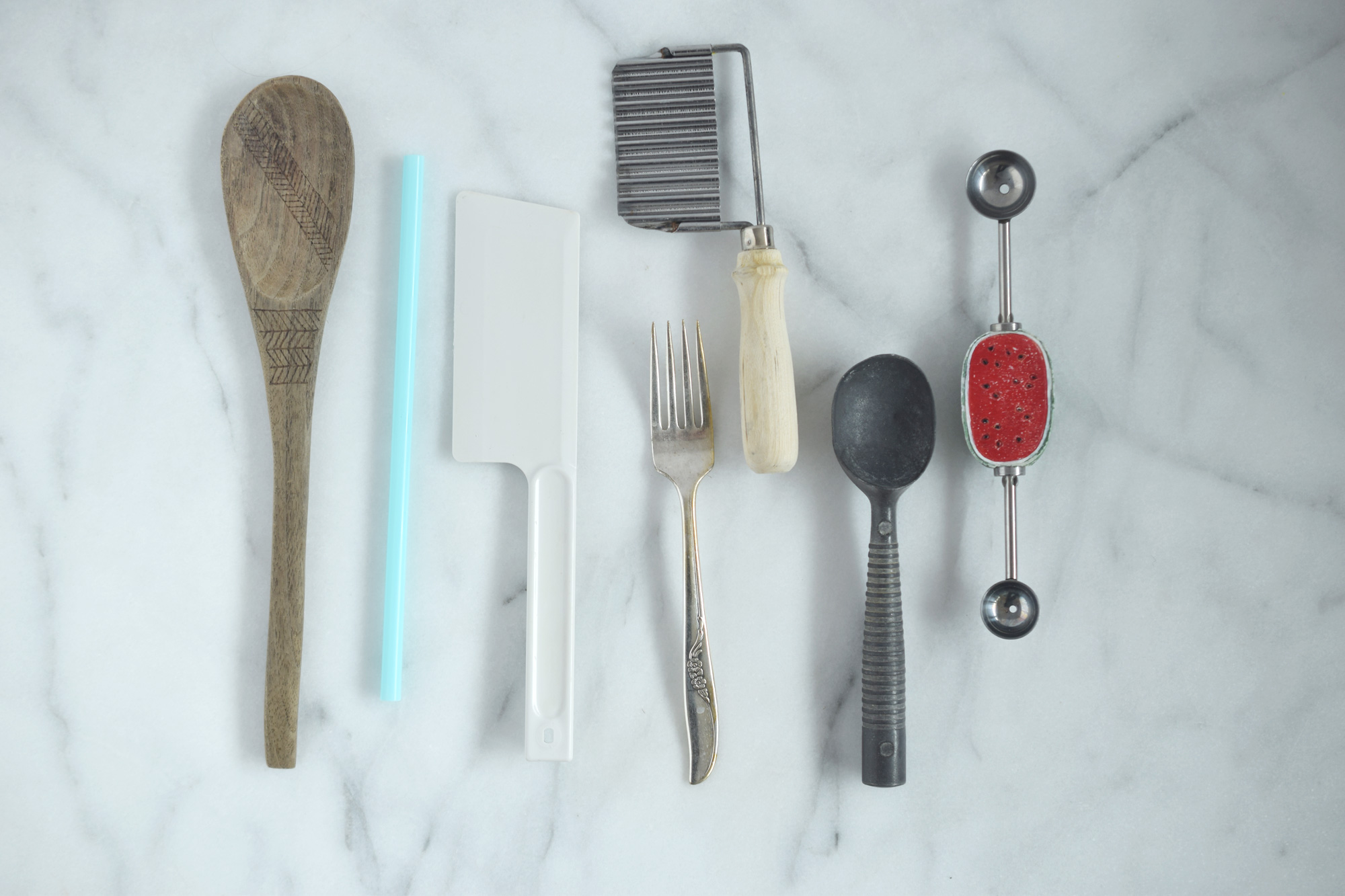 tools I used for playing with homemade playdough