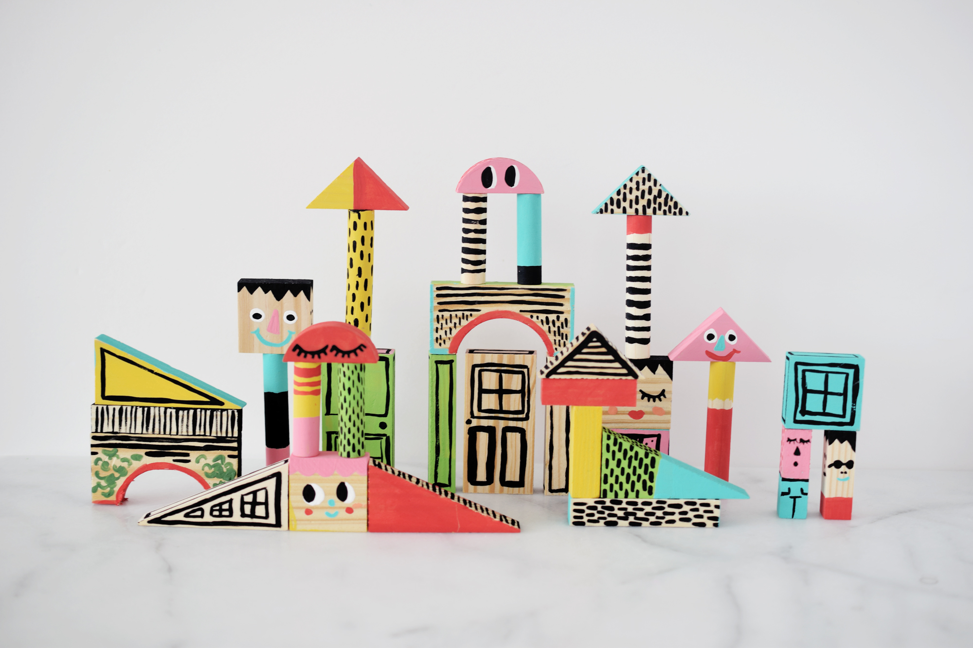 Kids Painted Toy Blocks DIY craft