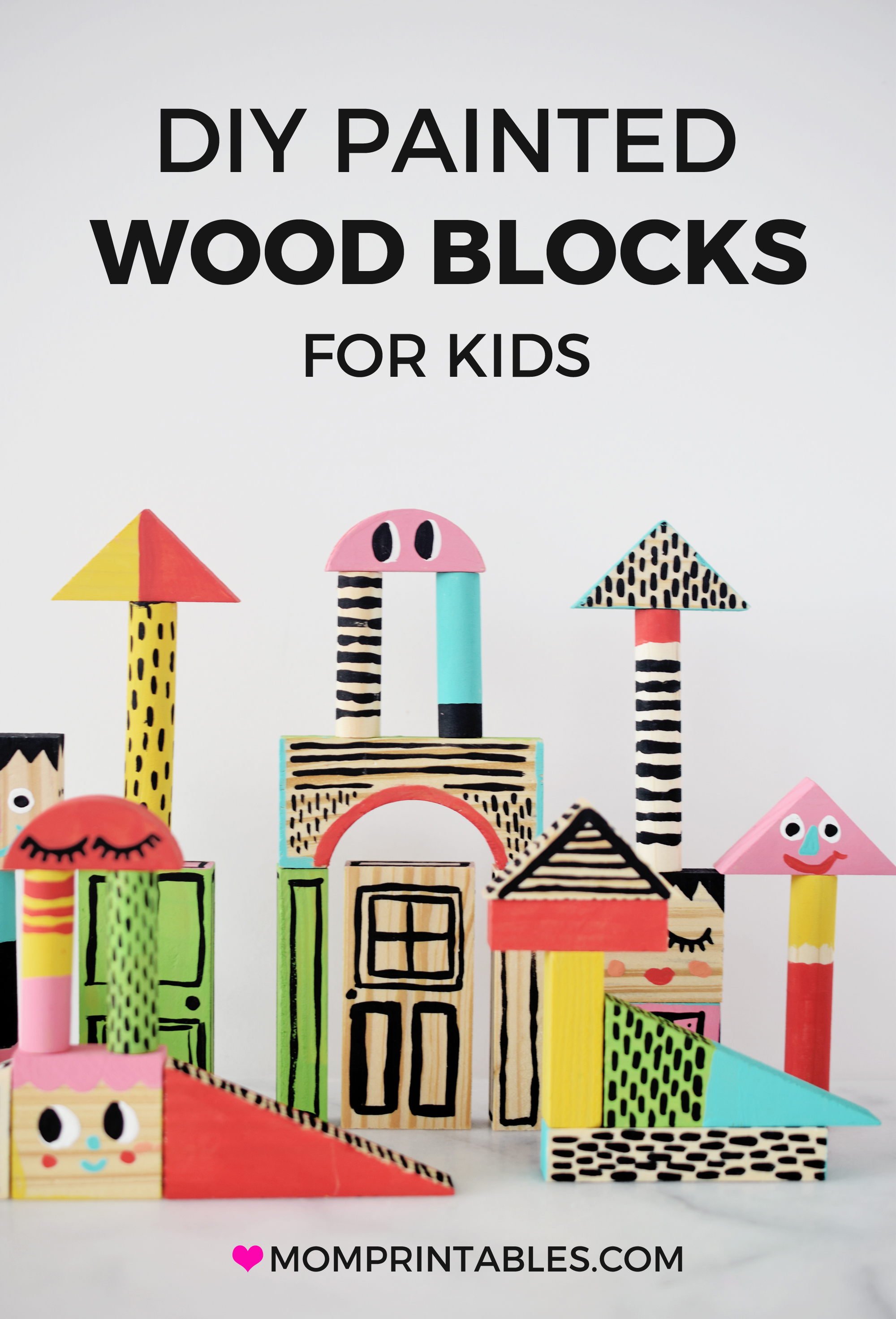 Toy blocks DIY for kids | ideas | for kids | fun | children | plays | wood | Christmas gifts | painted #kidscraft #toyblocks #paintedwoodblocks #diytoys #kids