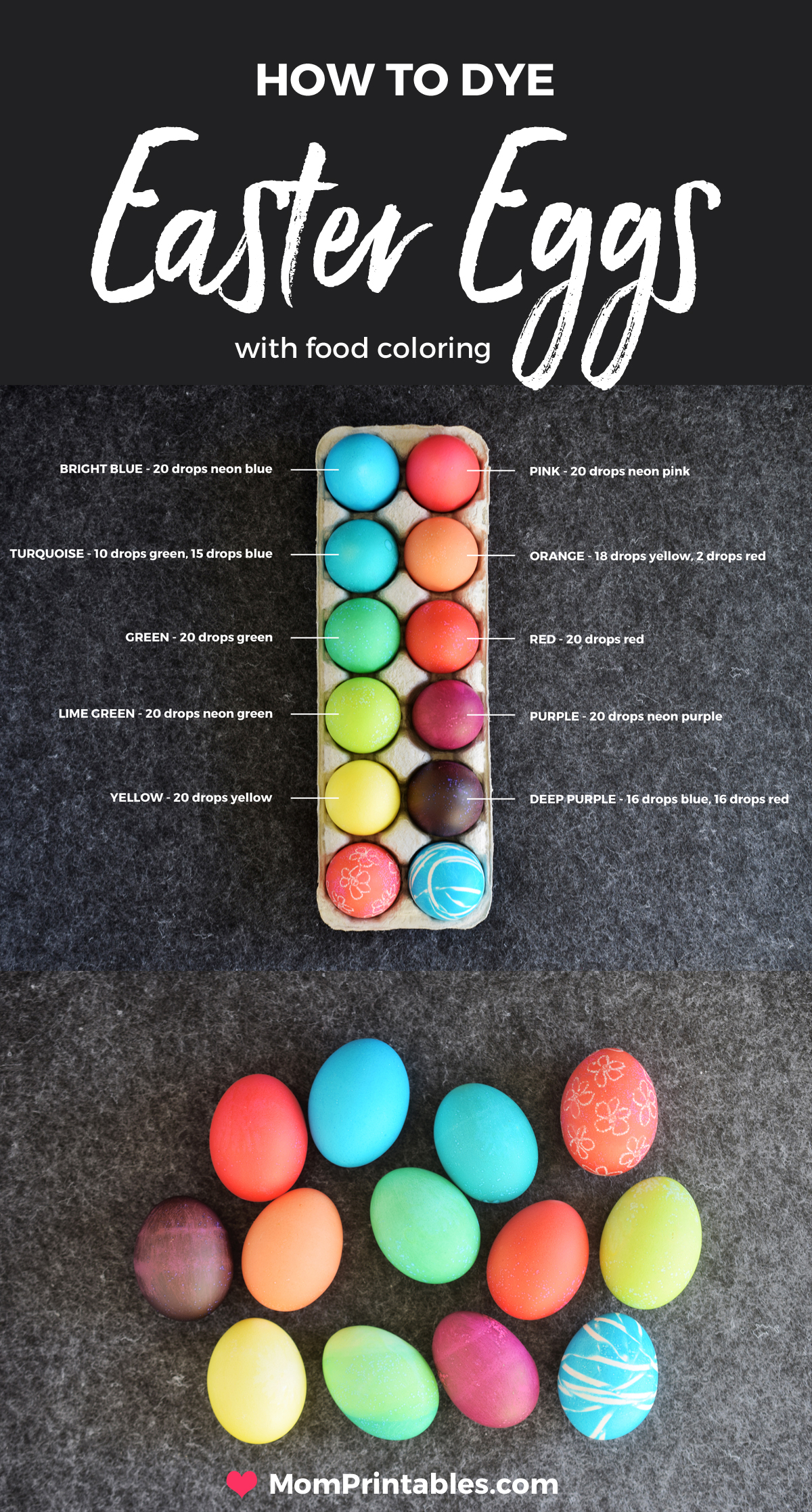 Dye Easter Eggs With Food Coloring | for kids | ideas | Hard boiled eggs | How to make easter eggs | fun easter eggs |  using vinegar | what to do | simple | tutorials | how to make | holidays | rubber bands | dip dyed | colour | water | projects | toddlers | children #easter #eastercrafts #eastereggs #dyedeastereggs