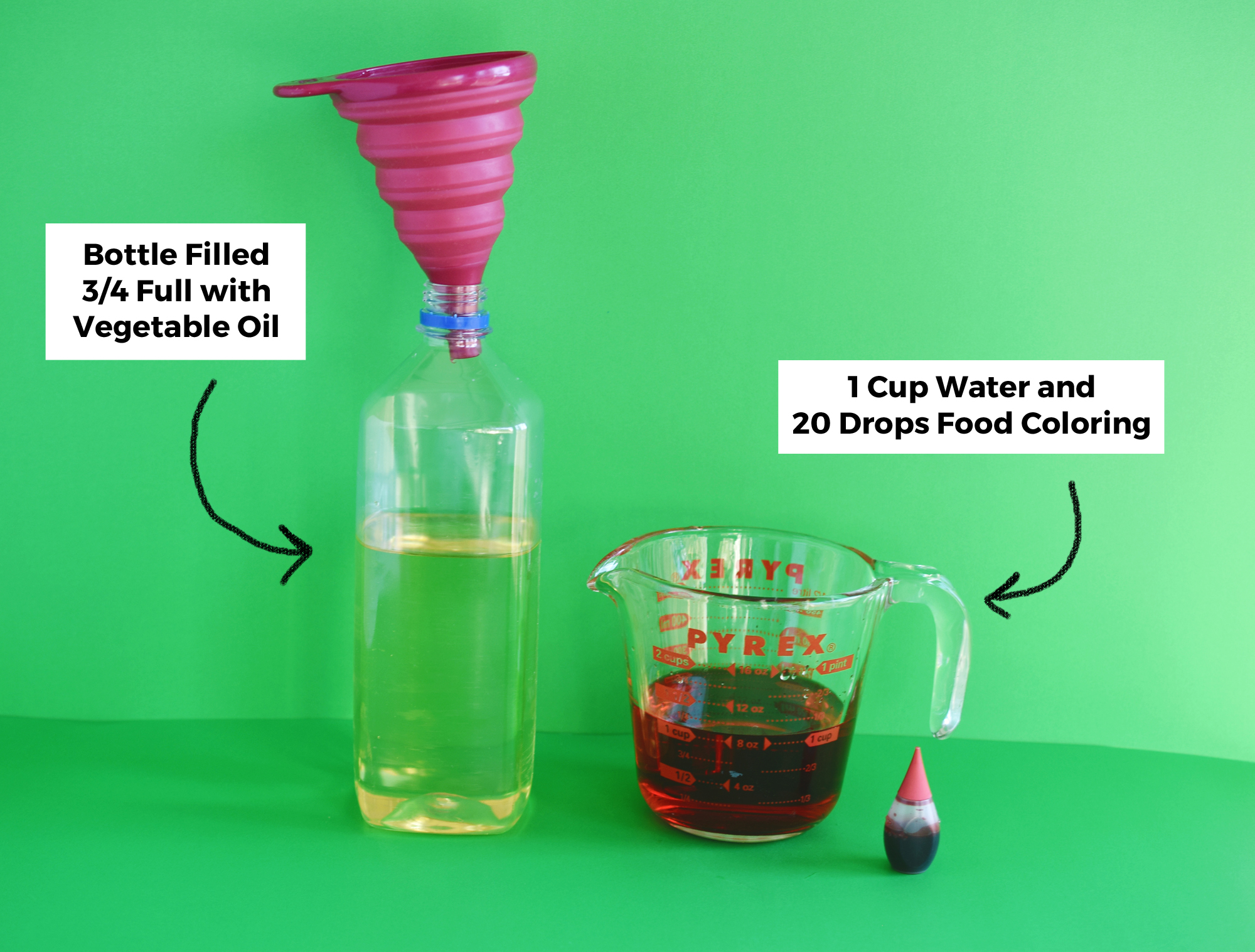 DIY Lava Lamp For Kids - make your lava lamp in minutes!