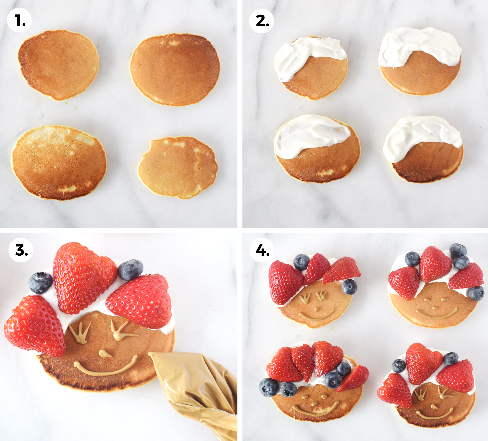 how to make silly pancake faces