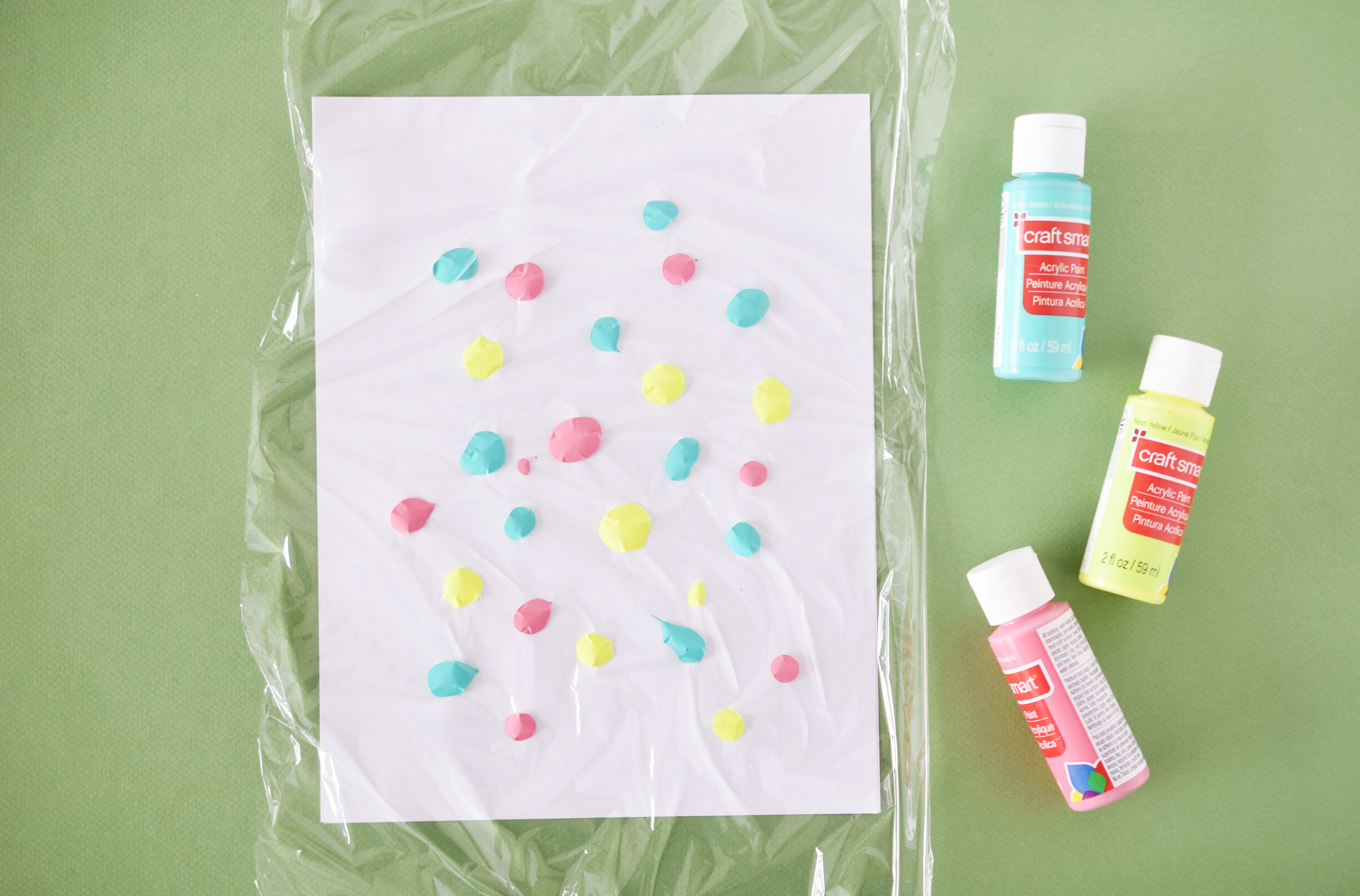 Squish painting for kids