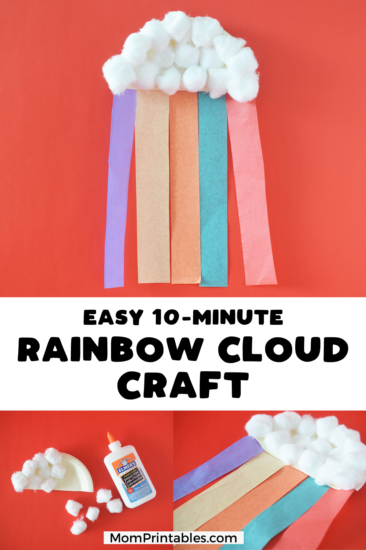 Rainbow craft for kids with paper plate and tissue paper | preschool | kindergarten | pot of gold | for toddlers | DIY | kids | easy | For Preschoolers | st Patricks day | church | first grade | spring | art | decoration | ideas | projects | for children | party | paper plate | wall | tissue paper | elementary | cloud | Girl Scouts | room | simple | cute #paperplate #rainbow #kidscraft #craft