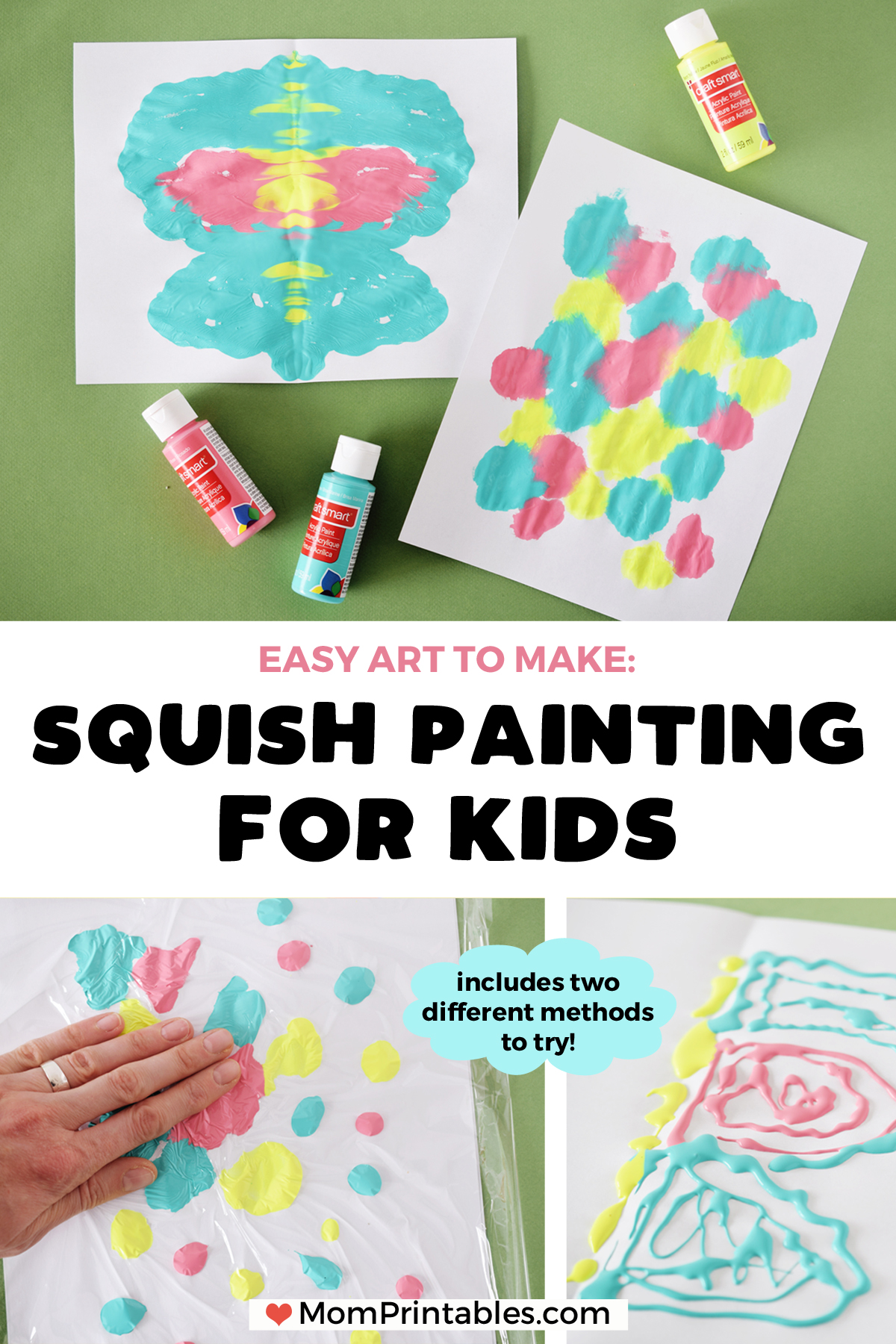 Squish Painting and Butterfly Symmetry Painting for kids | Preschool ideas | for kids | fun | papillons | nature | mirror image #kidsart #symmetry #art #butterfly