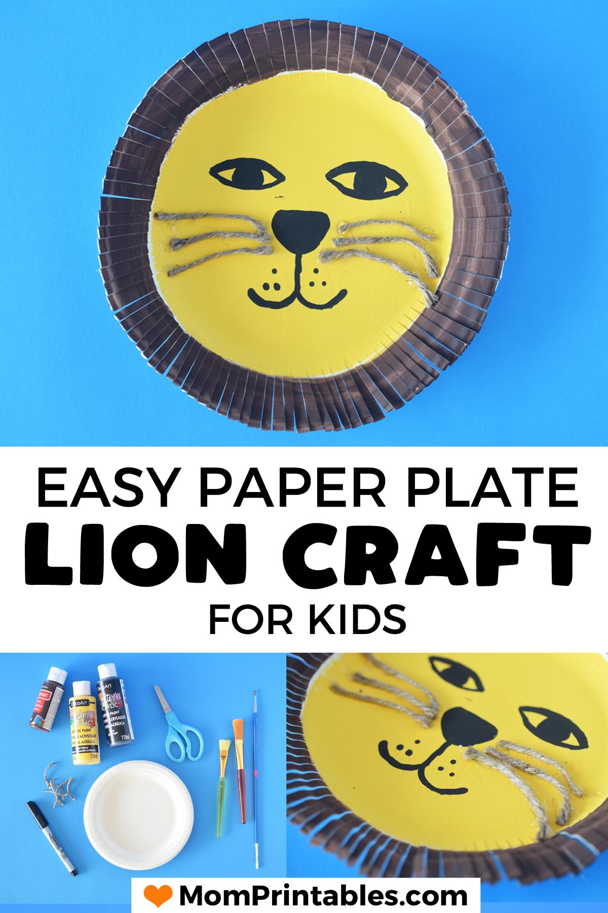 Lion craft preschool paper plate | art projects | kids | toddlers | kindergarten | fun | animals | children | simple | motor skills | learning | classroom | student | virus theme | paper plate craft | cutting skills #kidscraft #paperplate #lioncraft
