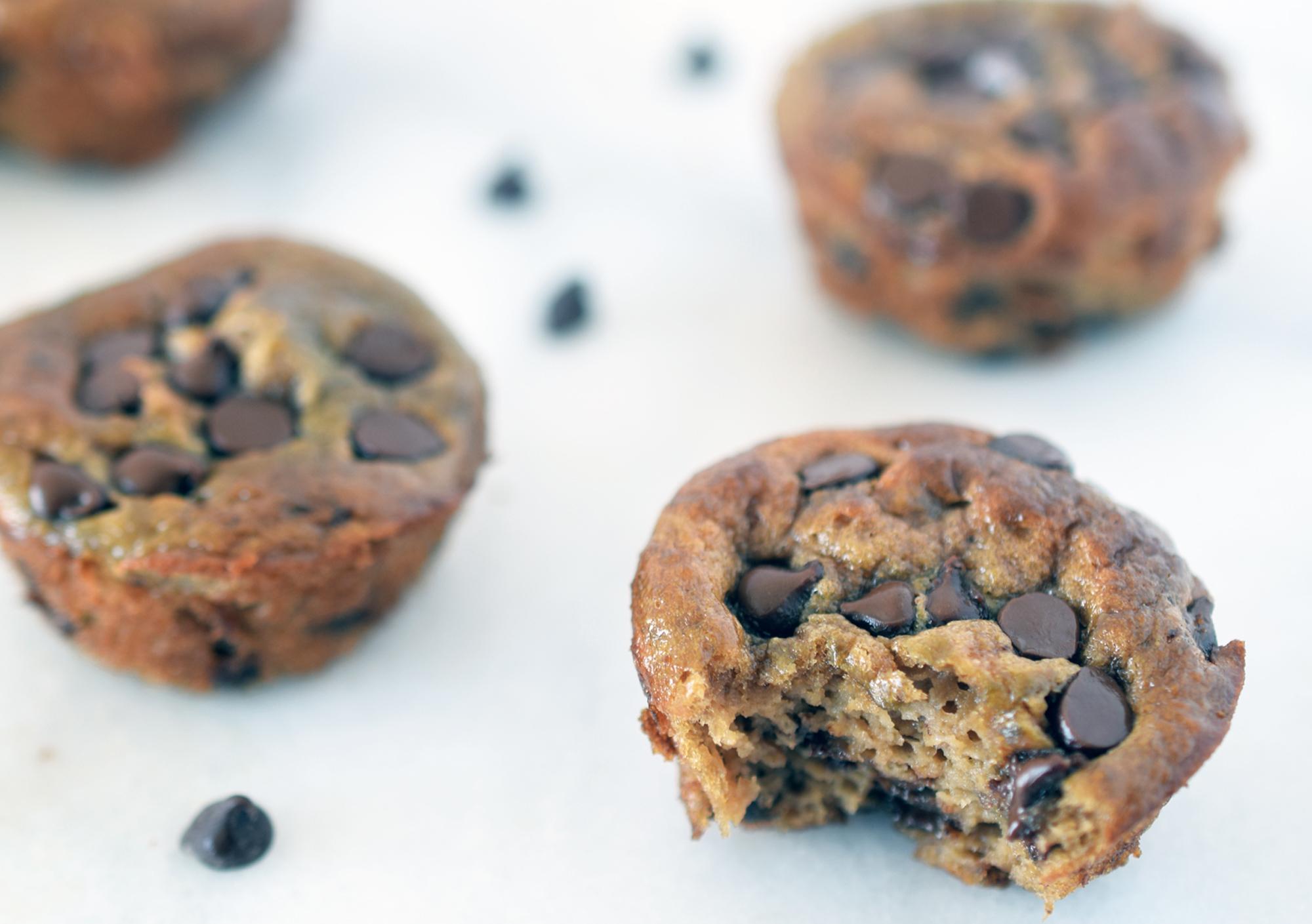 Flourless Sunbutter Banana Chocolate Muffins