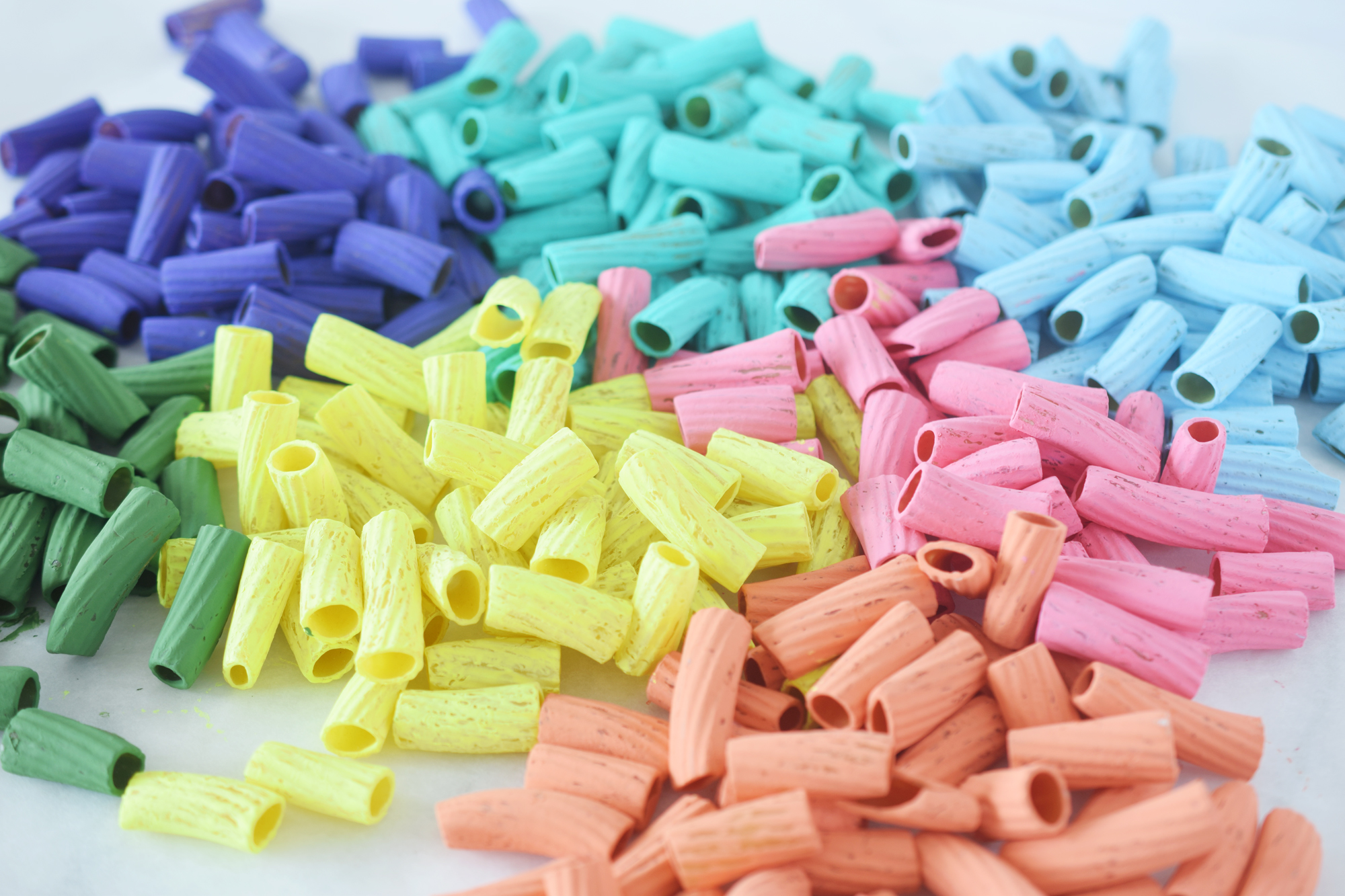 How To Make Rainbow Pasta For Crafts