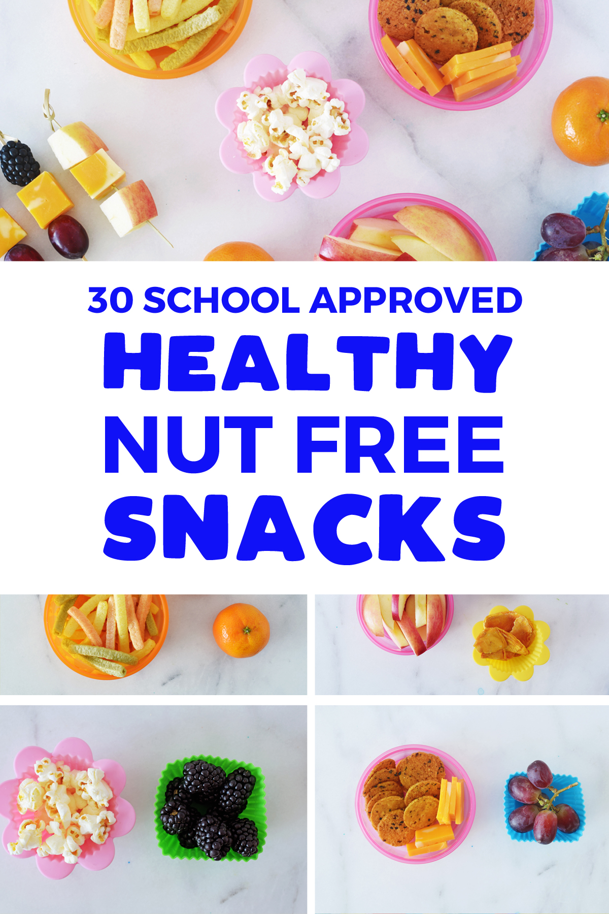 30 school approved healthy nut free snacks for kids | For kids | for school | healthy | food allergies | vegan | store bought | to buy | for adults | protein | homemade | packaged  | for toddlers | prepackaged | for preschool | sunflower seeds | energy bites | #nutfree #school #snack #toddler #preschool #kindergarten #kids #kidfriendly