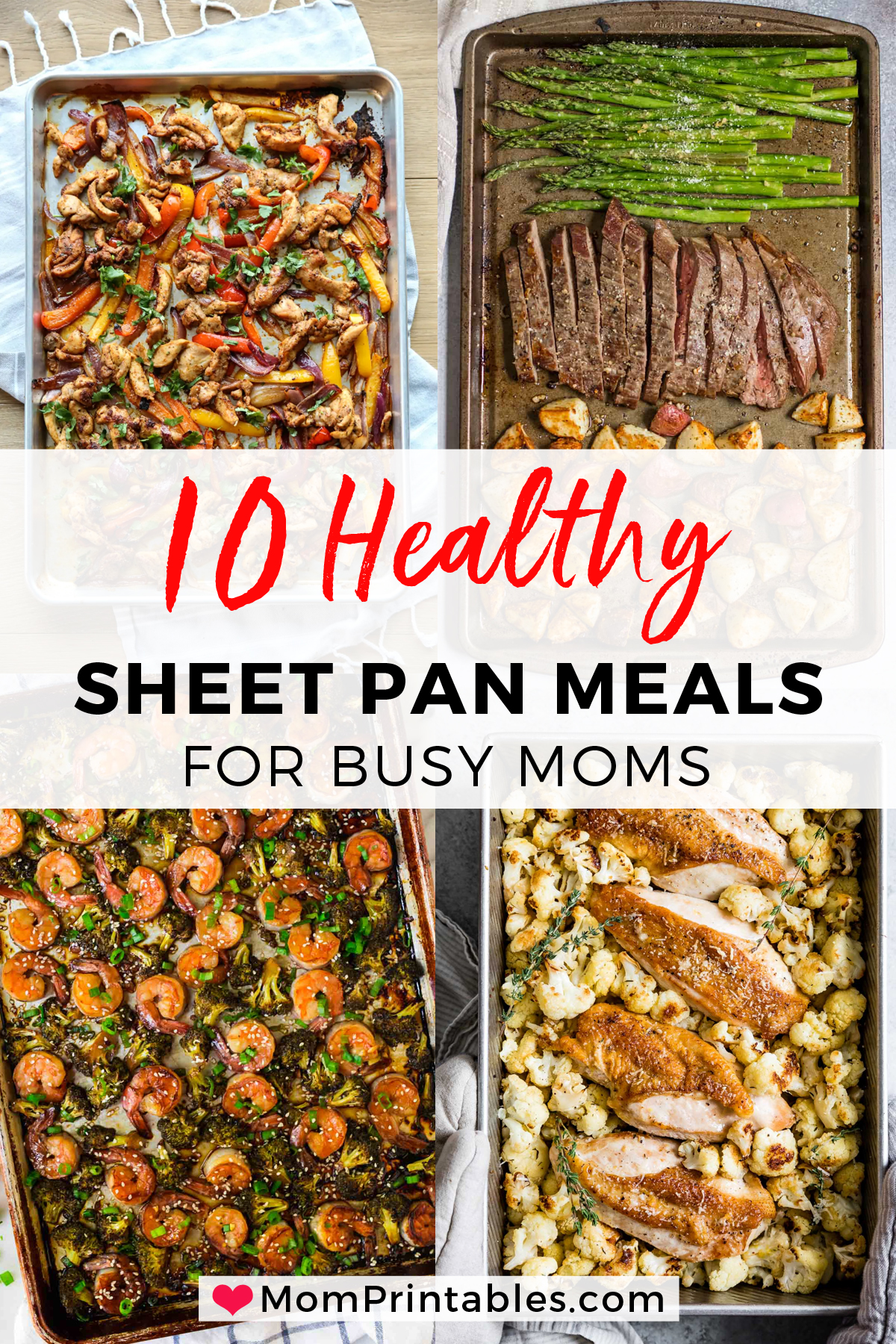 Healthy Sheet Pan Dinners To Try. I've compiled 11 healthy sheet pan dinners to try that will make weeknight meals so easy! Kid-approved, no mess, no fuss recipes for the entire family. #sheetpan #sheetpanmeal #familymeal #mealprep #weeknightmeal