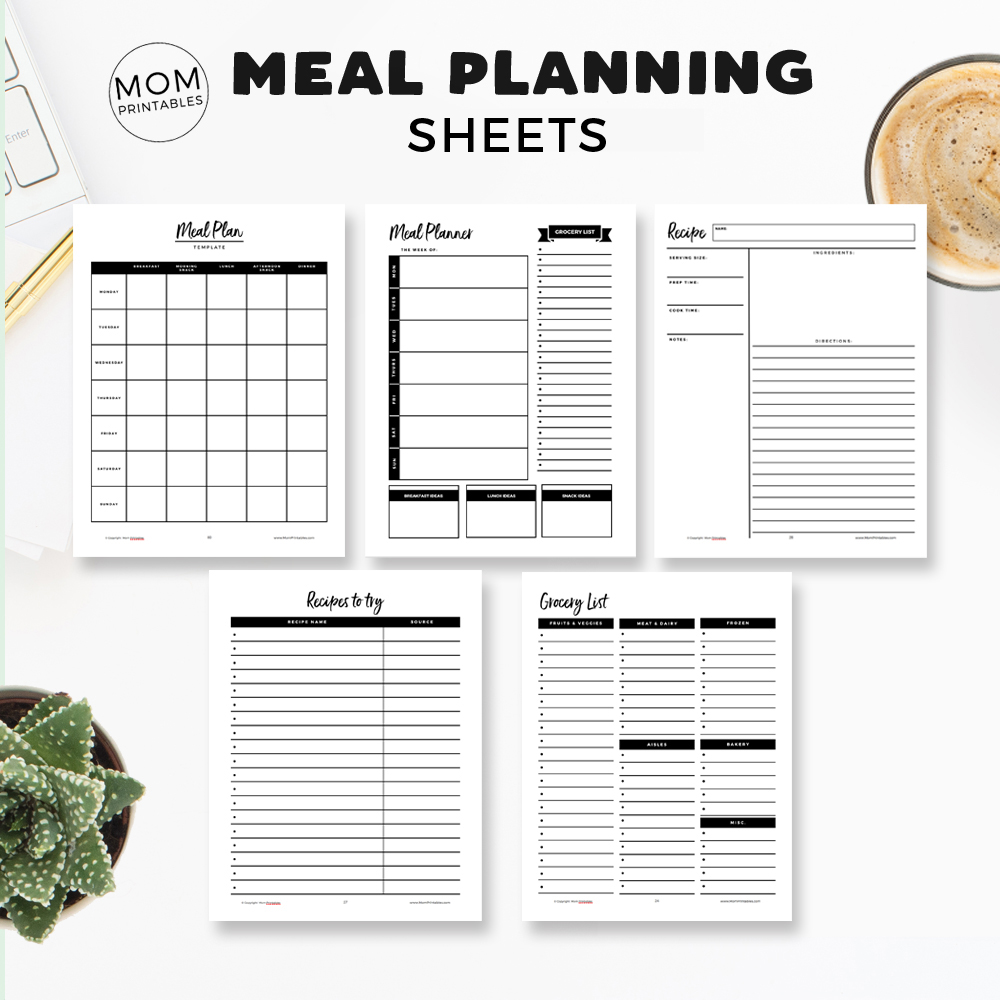 Meal Planning For Moms Printables