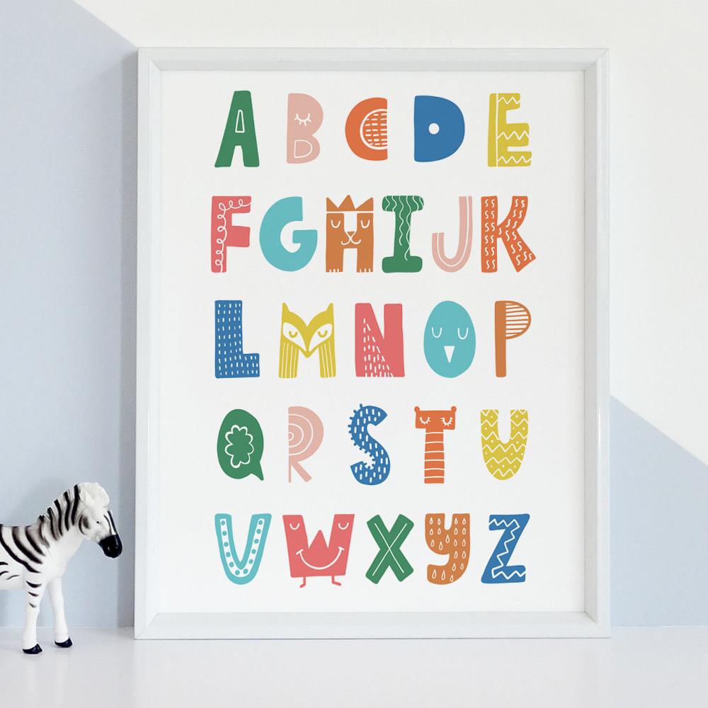 Alphabet Art Print for Kids