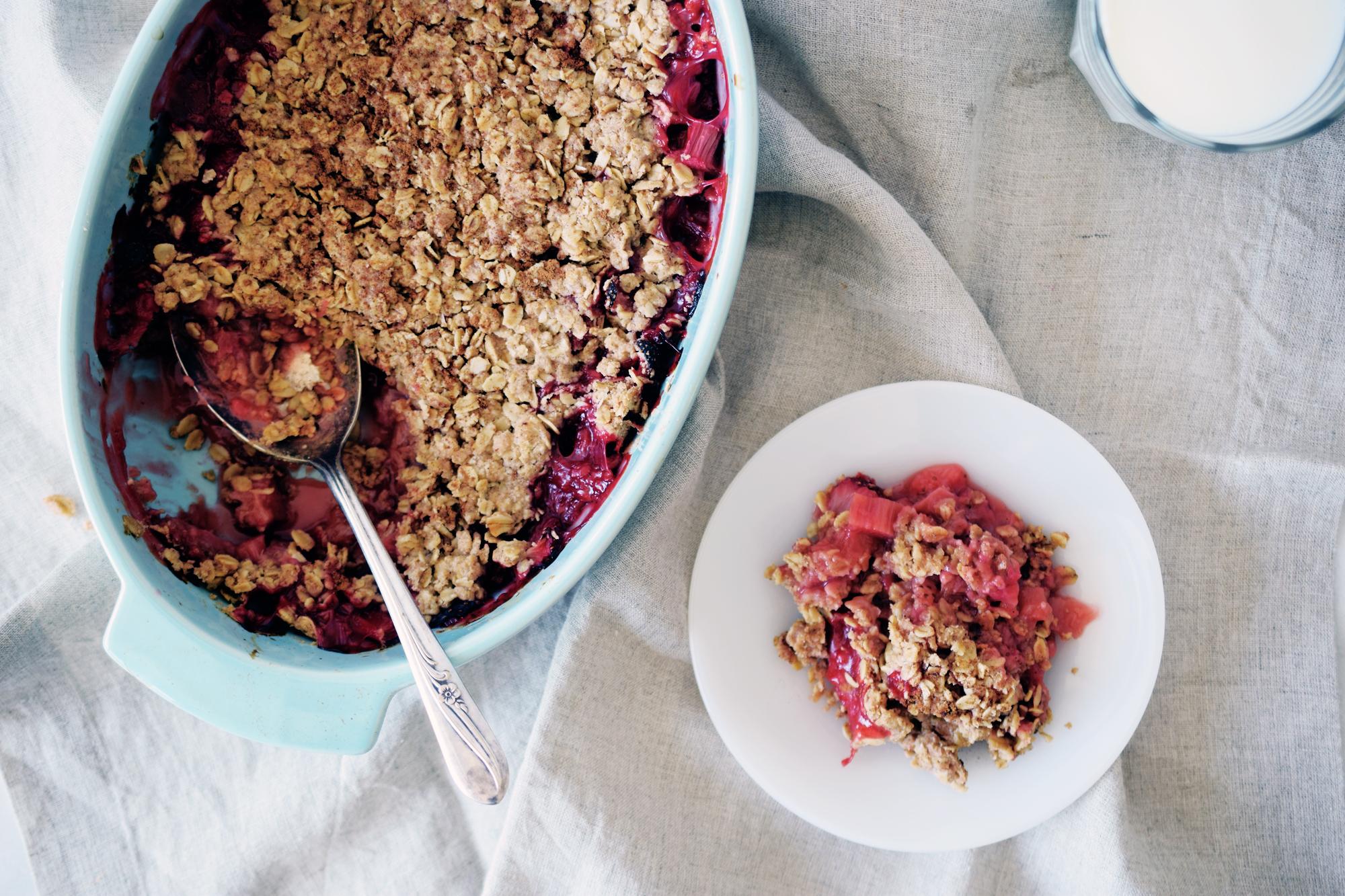 Strawberry Rhubarb Crumble Recipe