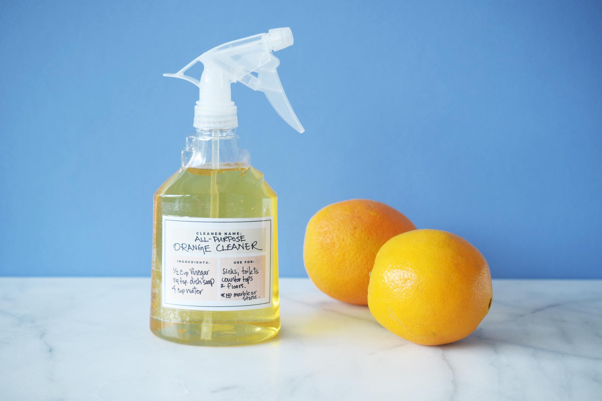 Zero Waste Homemade All Purpose Orange Cleaner