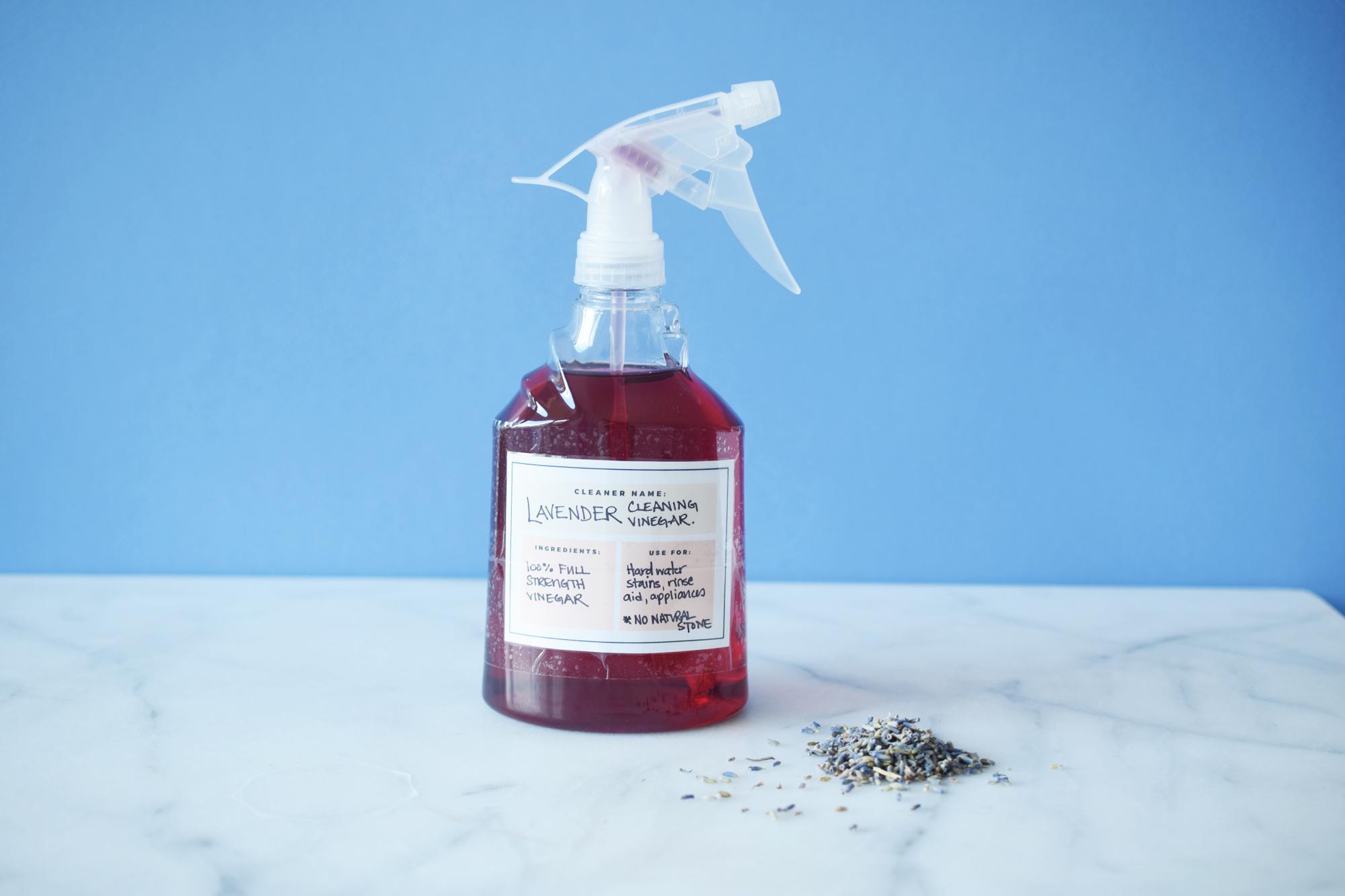 Zero Waste Homemade Lavender Cleaning Vinegar