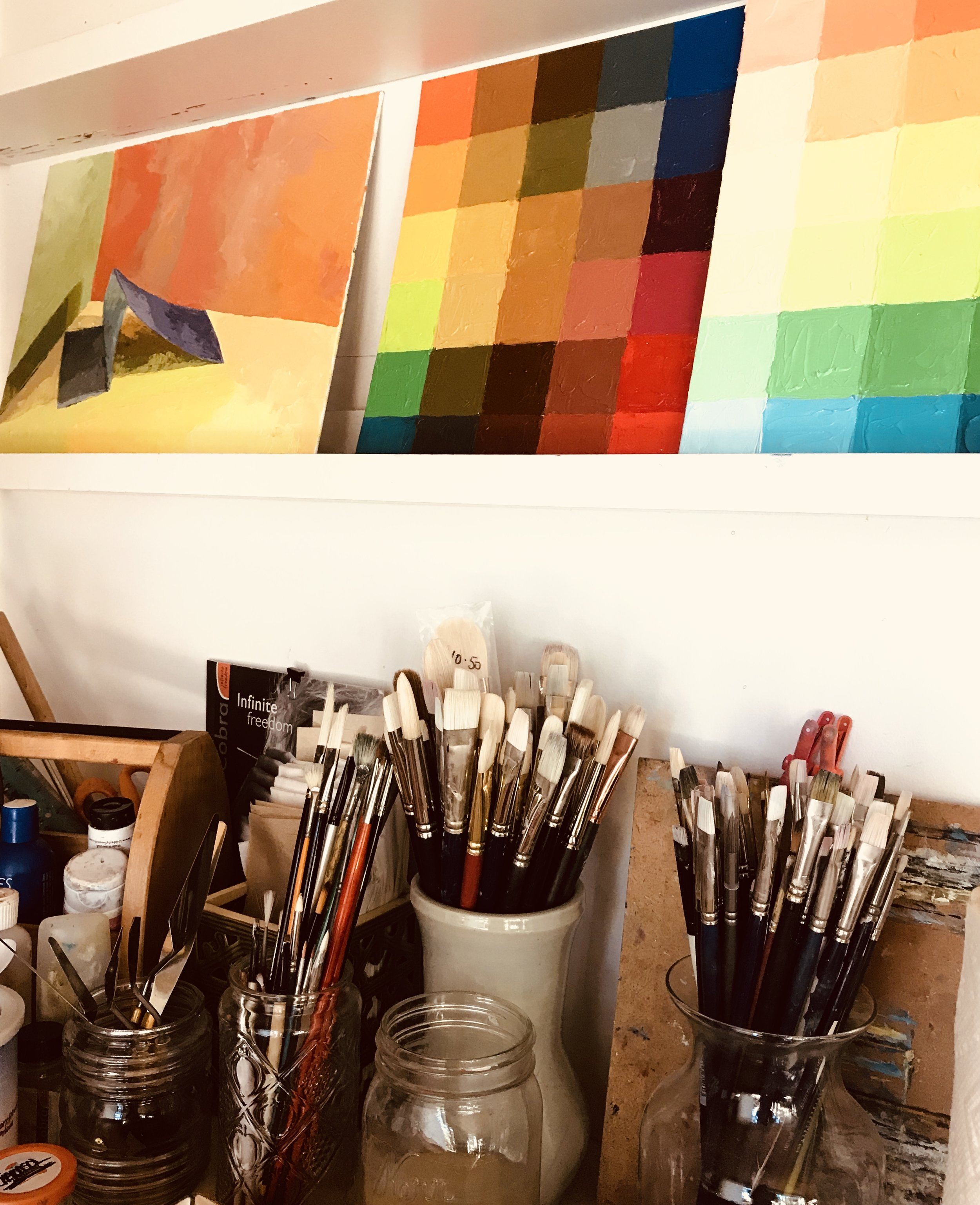 Rebekah's studio space.