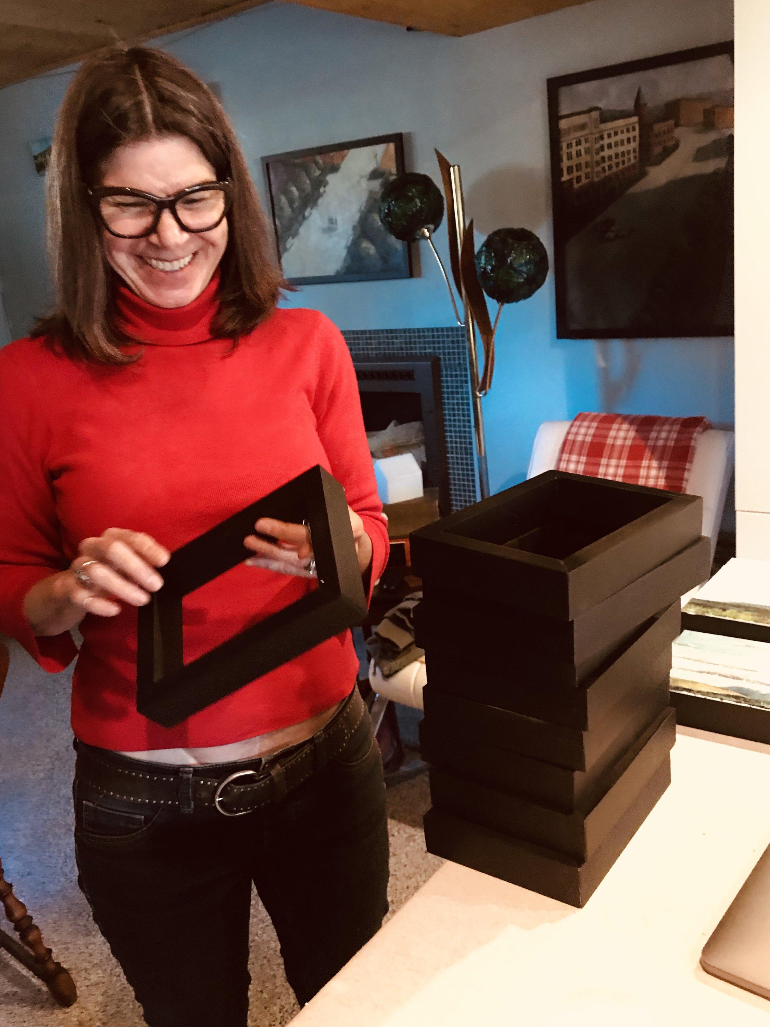 The frames that Rebekah and her husband, Alex, make together.