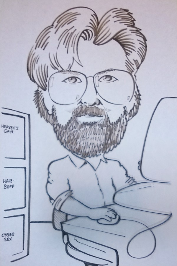 Dad really liked this caricature, which was drawn at Riverfest in the late-1990s.