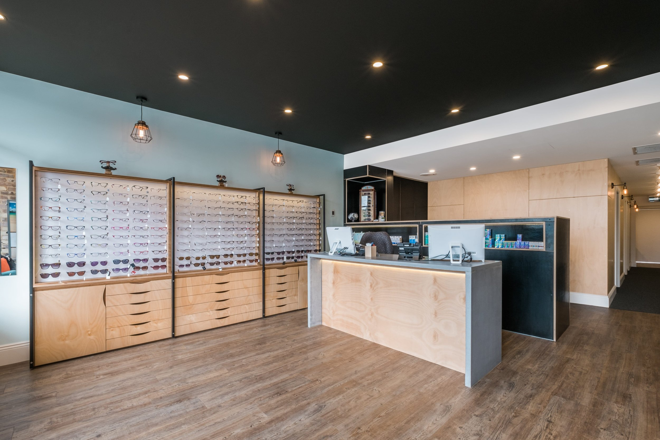 Retail Shop Interior Fitout Designer Optometry Industrial Theme Plywood Joinery.jpg