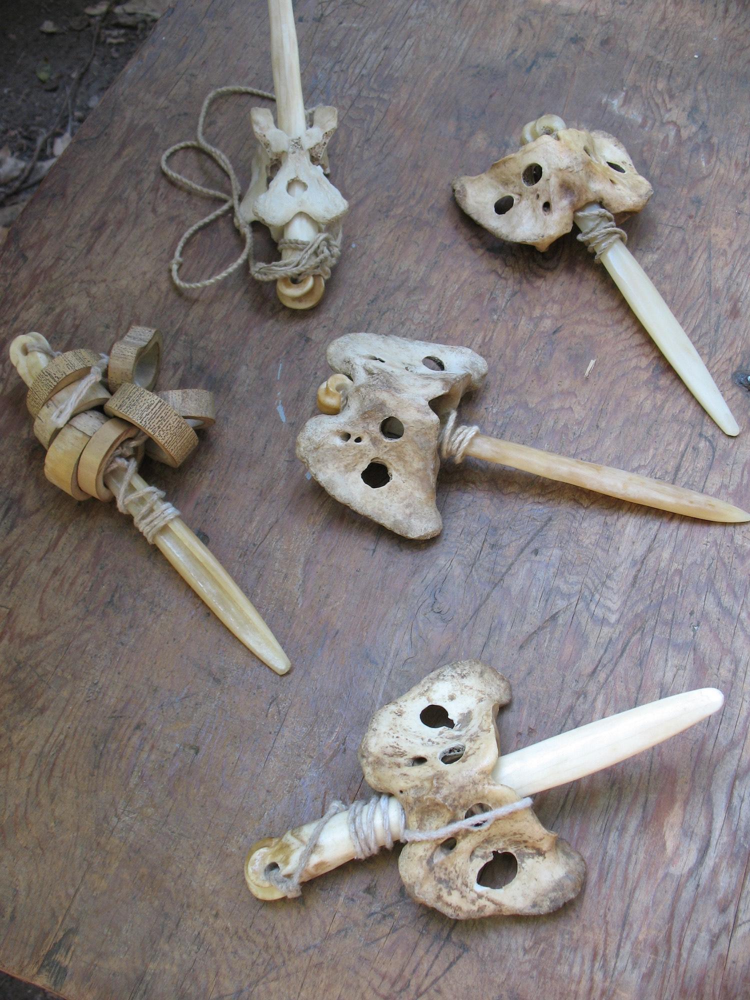 Catch games made from deer cannon bones, atlas bones & string
