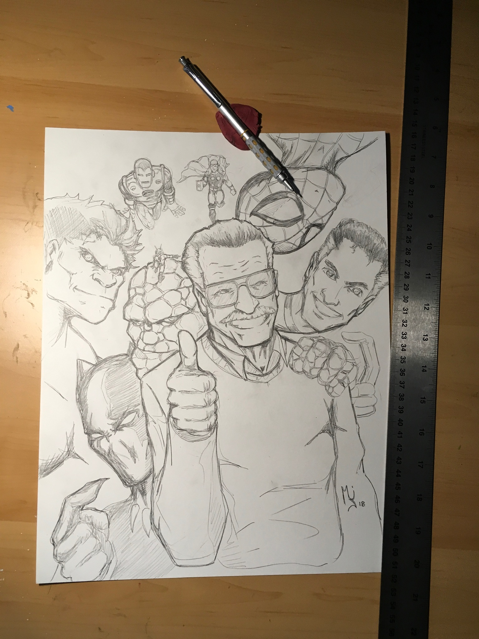 Pencil & panel work - Click here