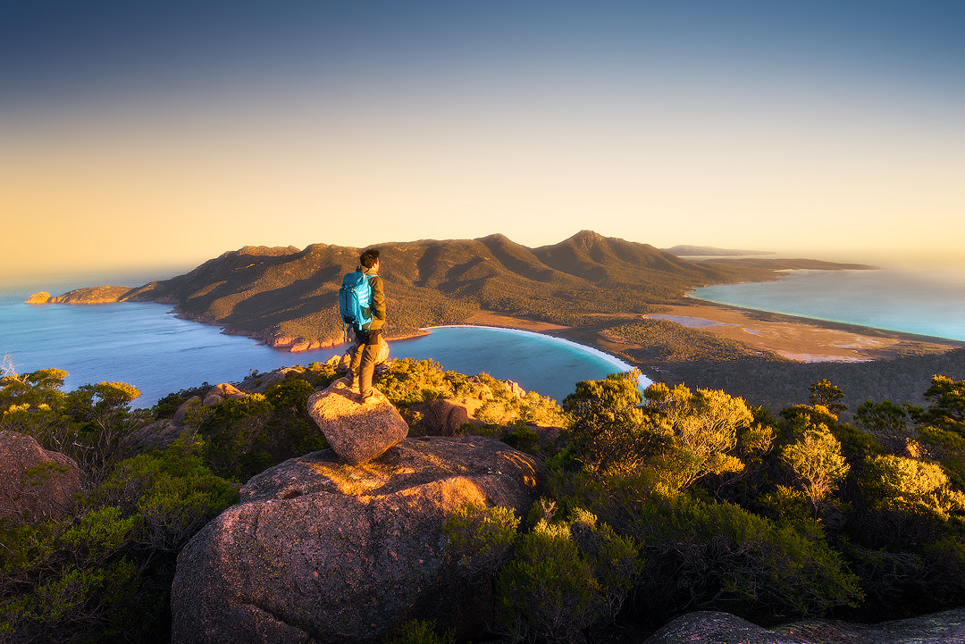 1. Wineglass Bay (from the summit of Mount Amos)