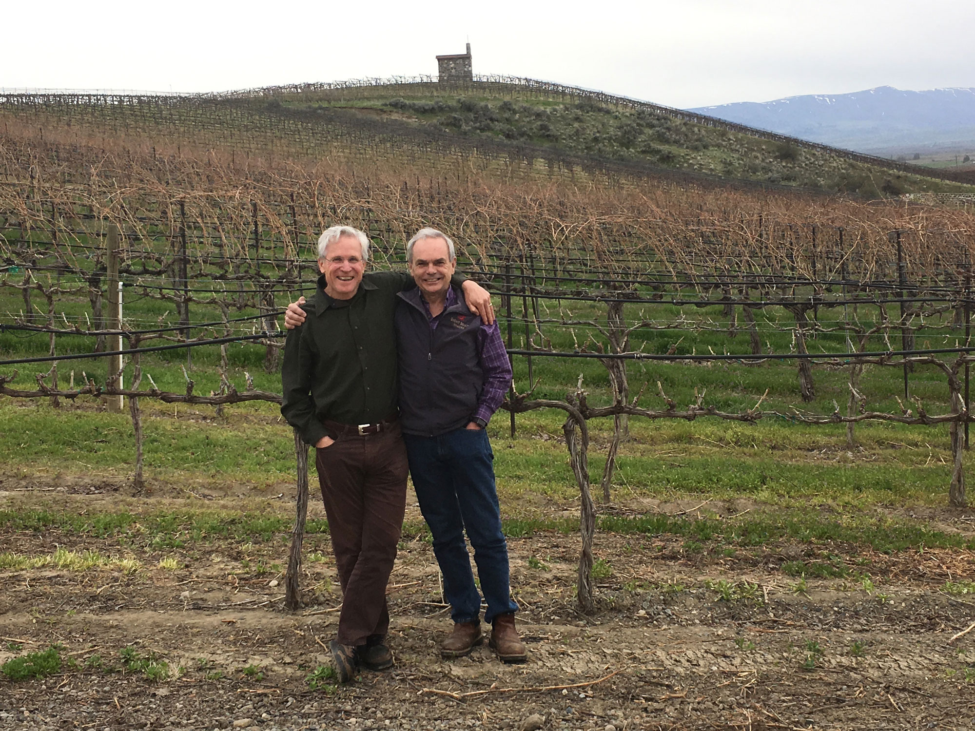 Frank and Tim at Red Willow Vineyard
