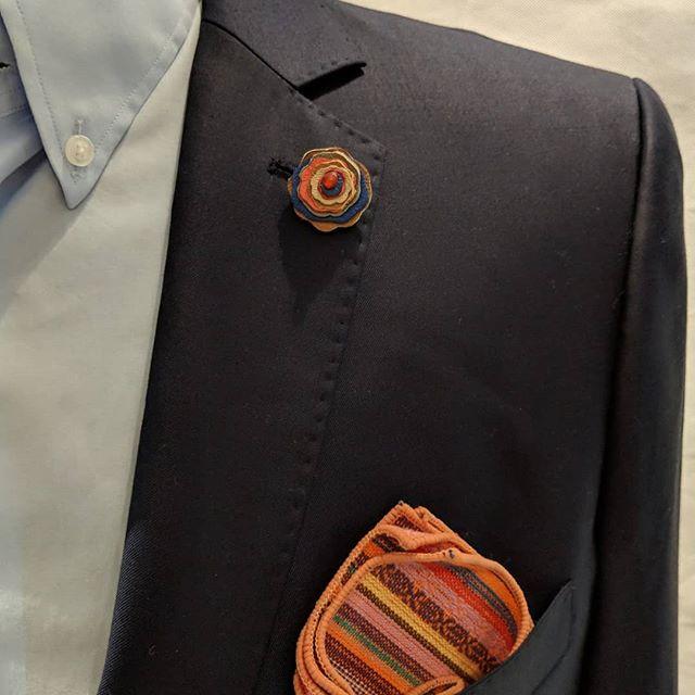 Sometimes you buy details years apart - and then they come together as one #dappertodetails  __________________ #detailsmatter #classydapper #pocketsquare #lapelpins #dapper #dappermen#dapperman#denofmen#mensfashion#mensfashionpost #menwithstyle#dapperstyle#dapperedman#gentlemen#gentlemenstyle #gentleman#fashionpost#classicstyledmen#styleinspiration#menfashion #mensstyle#mensessentials#menstylesuit#mensaccessories#suit #styleoftheday