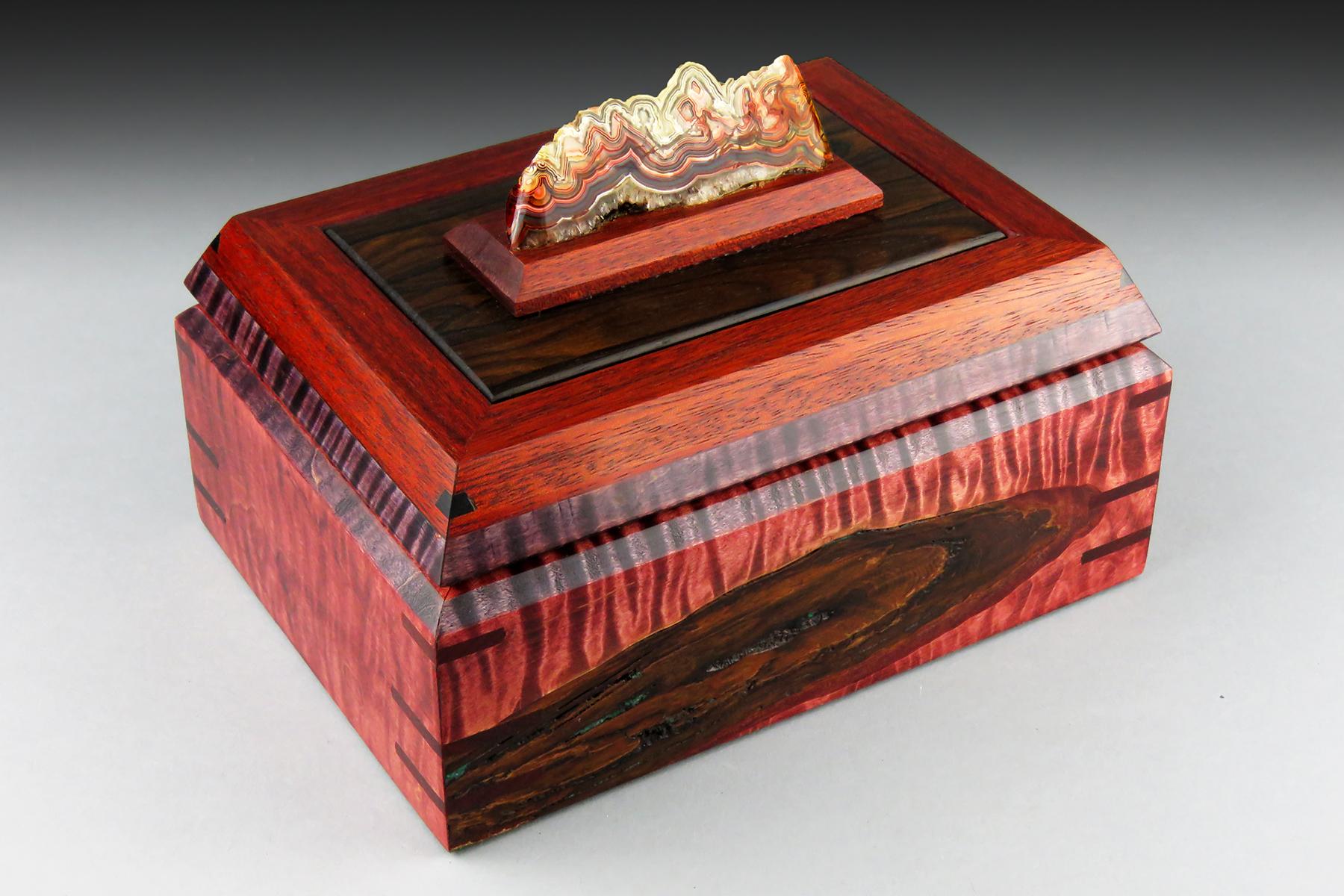 Rainbow Agate Jewelry Box: $330