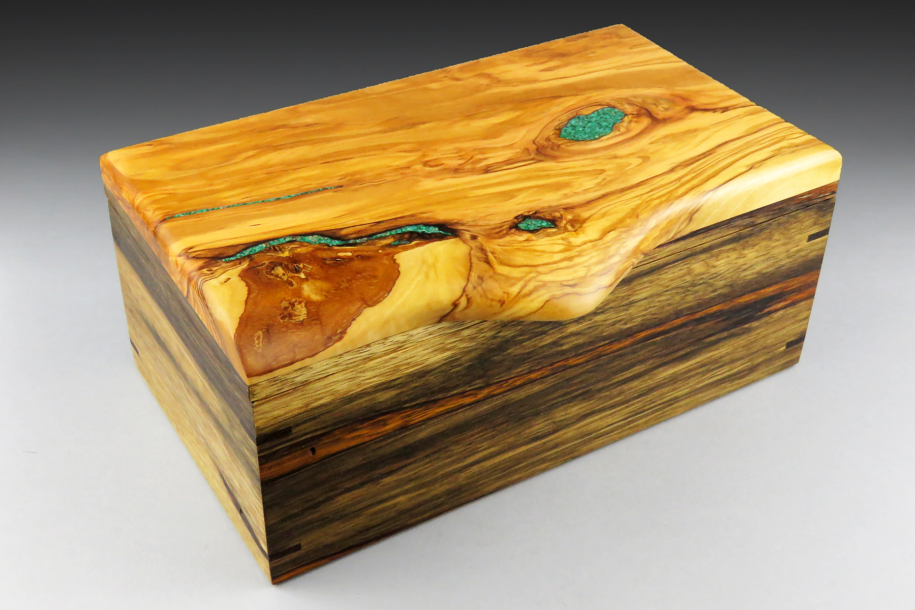 Flowing Olivewood Jewelry Box: $475