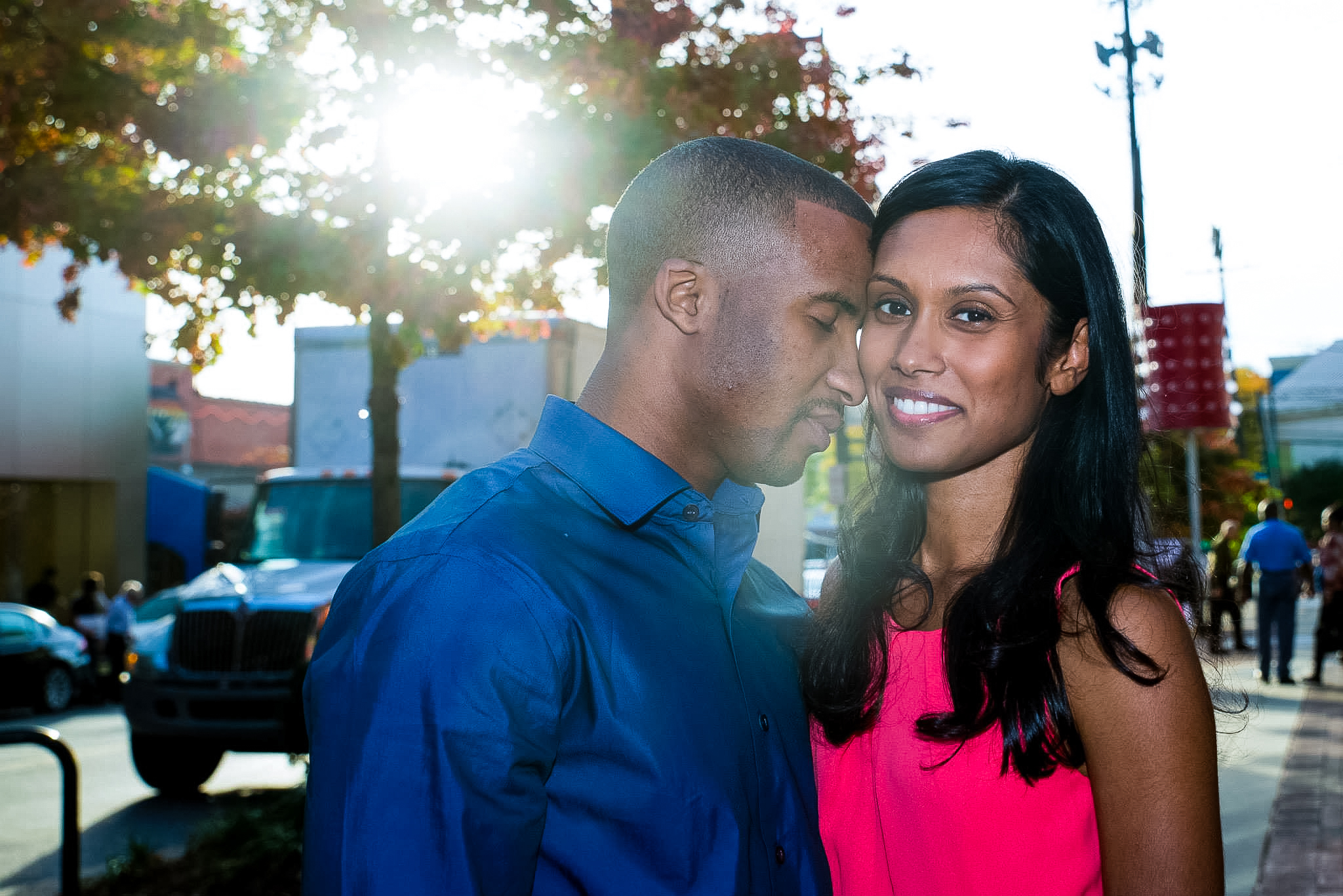 Wonderful sunny day for this engagement session.