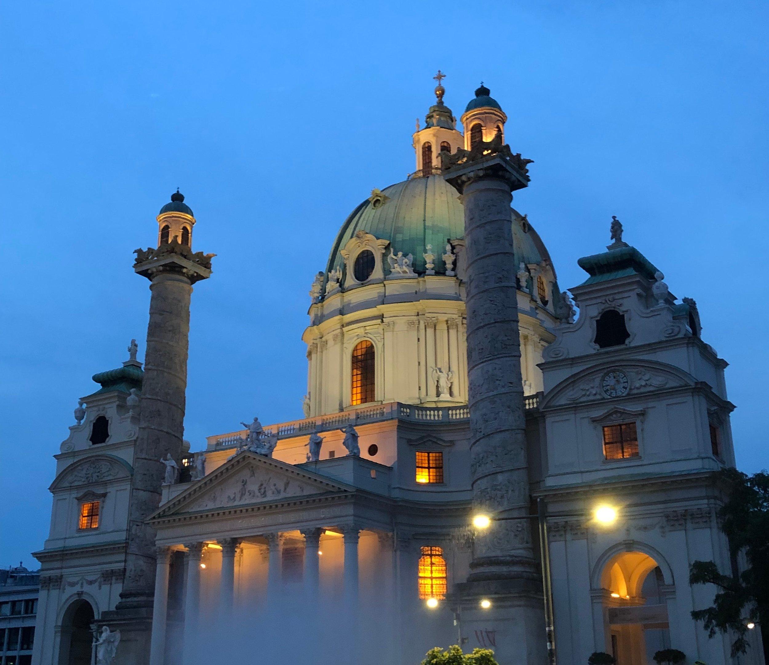 St. Charles Church, Vienna, Austria - Photo by M. Gisondi.