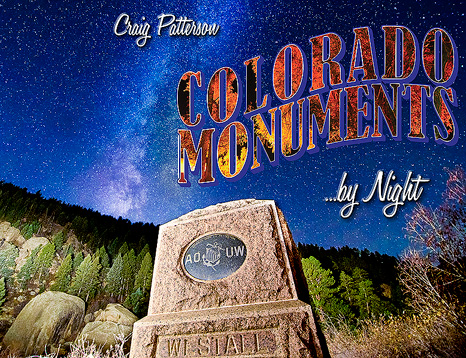 NEW RELEASE - Colorado Monuments by Night is now available in paperback, as an eBook, and as an AudioBook! Brought to life as a successful Kickstarter project, this book takes you on a journey through 105 of Colorado's monuments and markers, including both nighttime photography, and history you wouldn't otherwise know. Included with every book are GPS coordinates for every marker, maps, and directions!