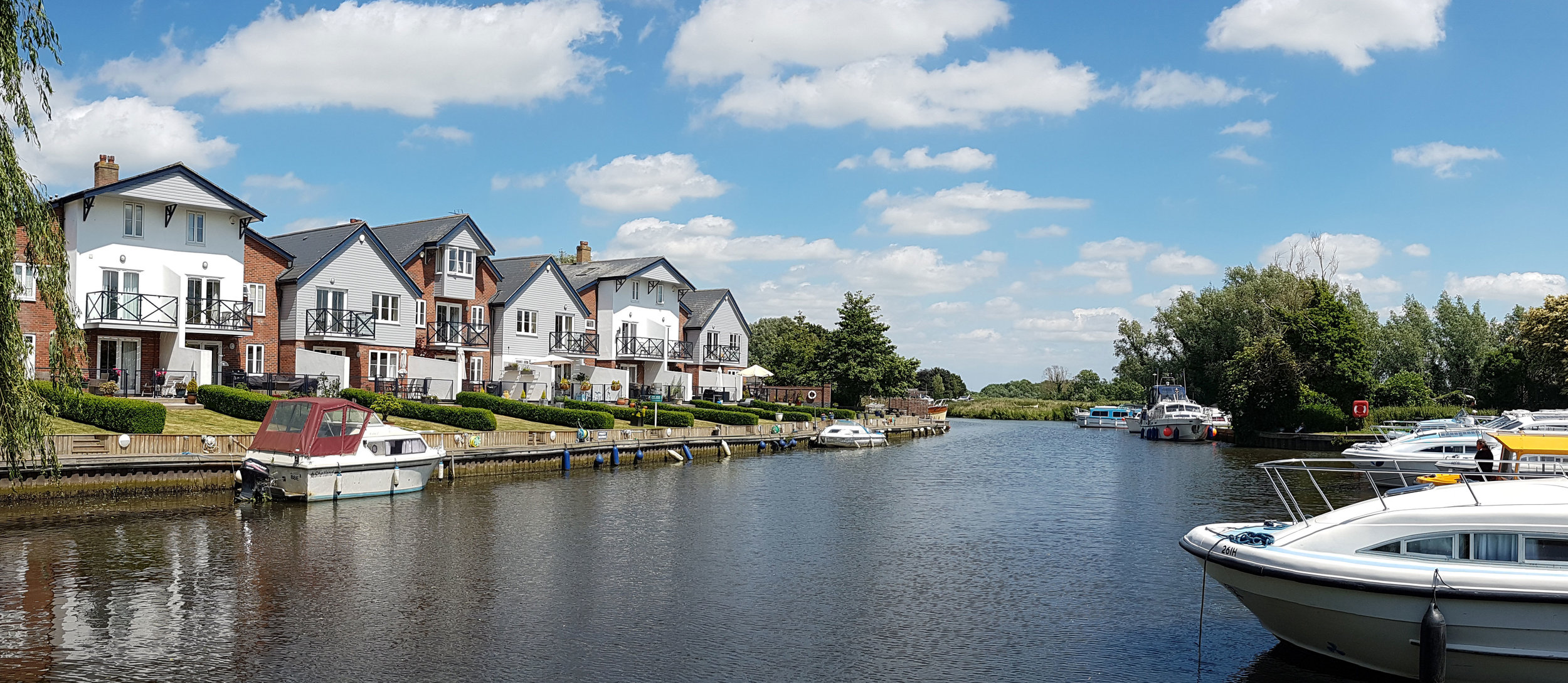 Loddon Marina, a few minutes walk from Moles Acre