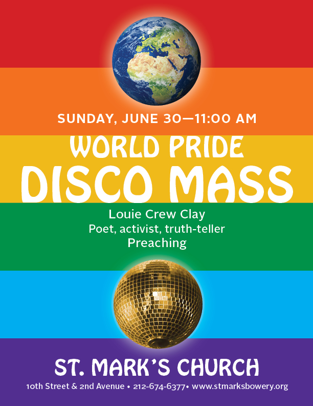 World Pride Disco Mass & St. Mar's Church in-the-Bowery