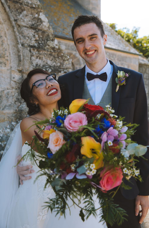 Portrait du couple marié