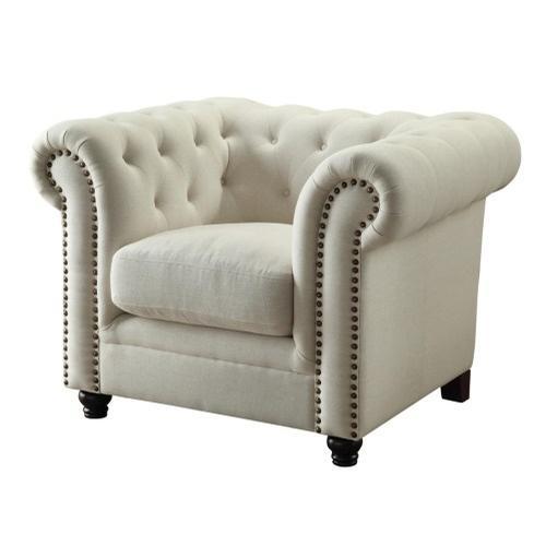 Cream Tufted Chair - $250