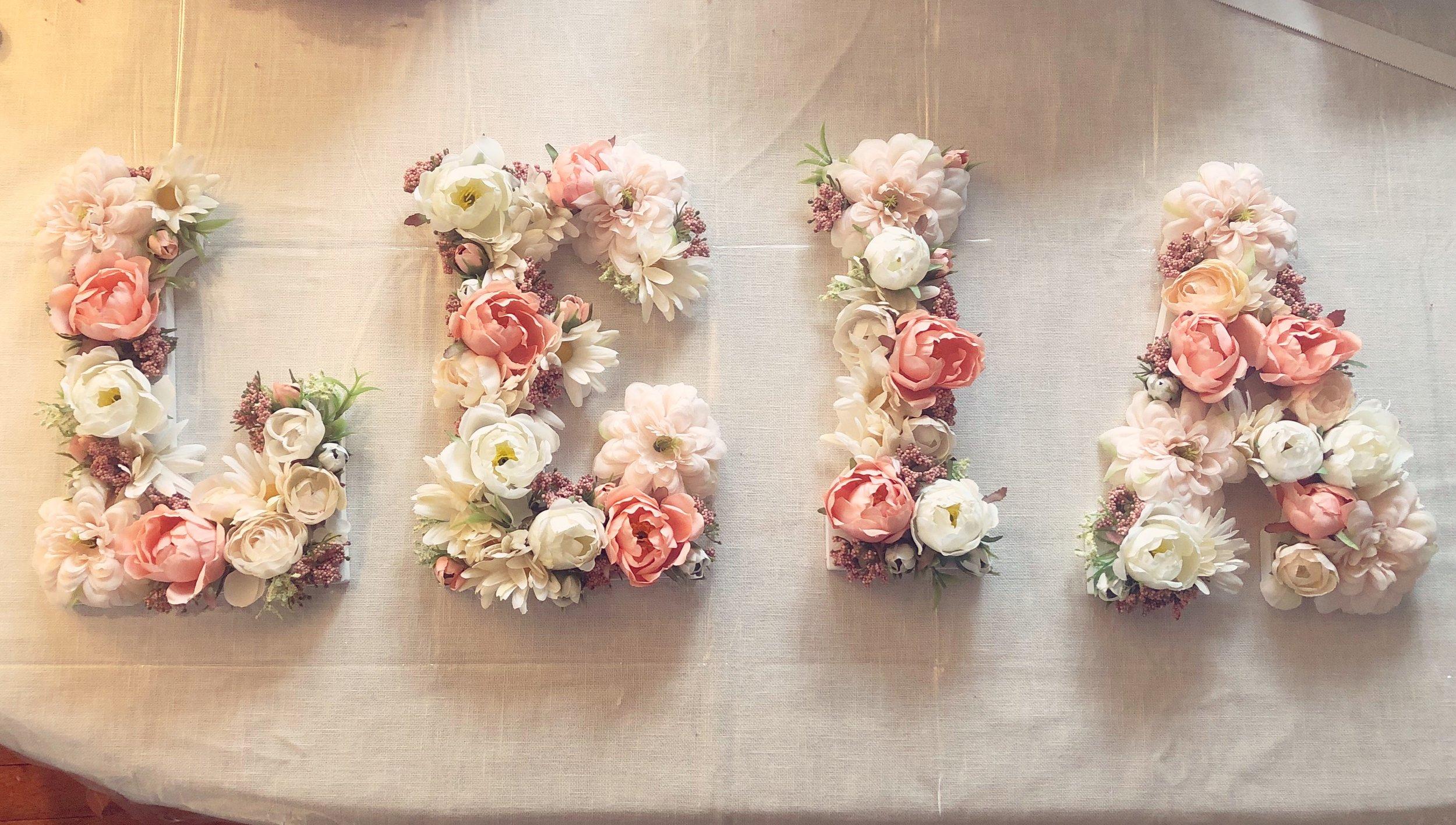 Floral Letters -