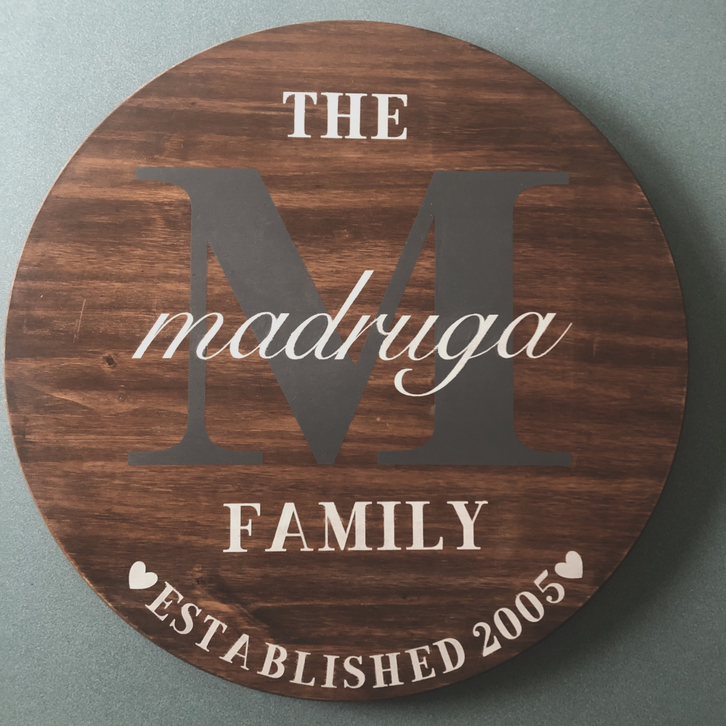 Family Name Plaque / Wood Sign -