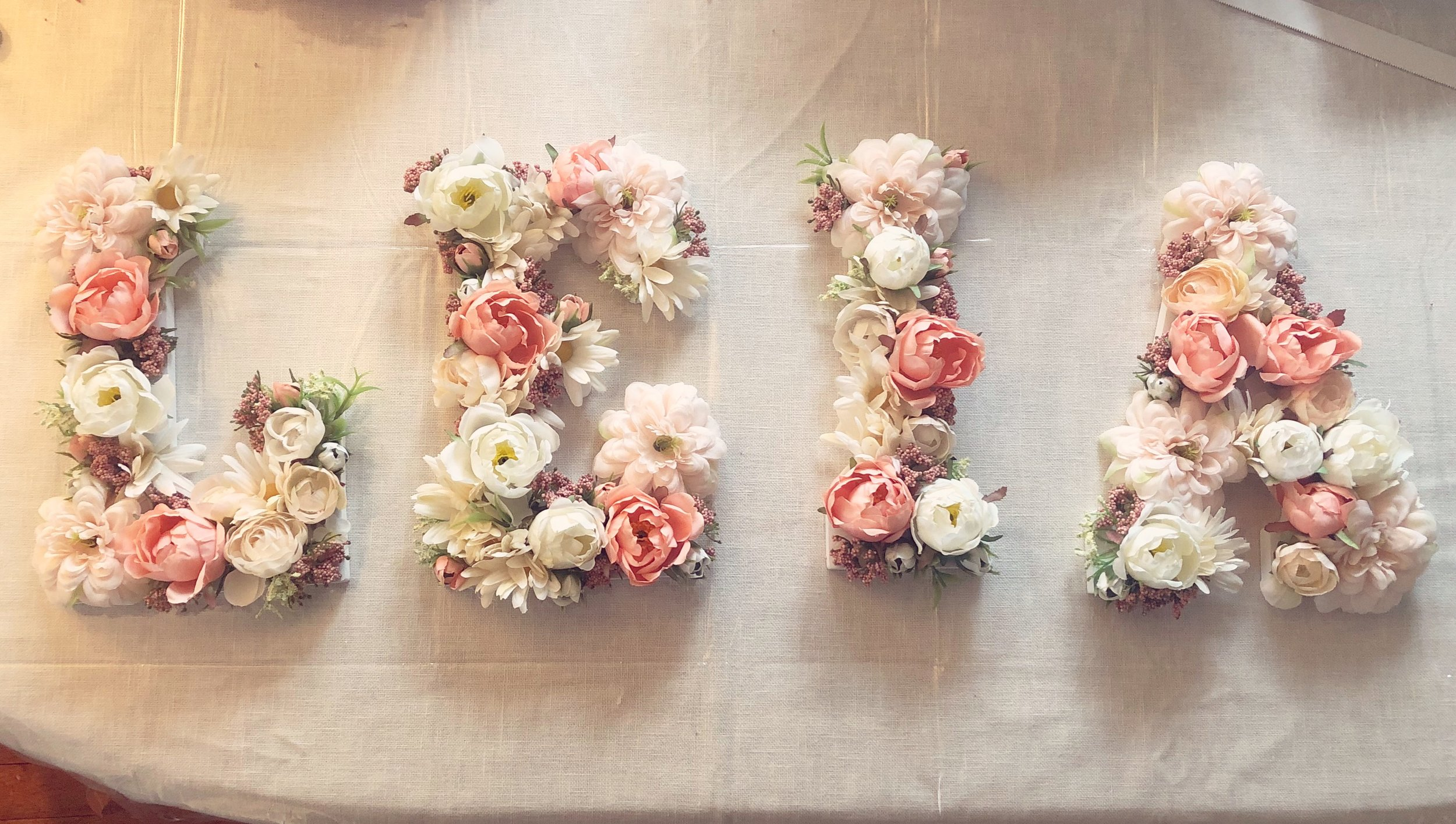 Floral Letter Workshop - CLICK HERE to schedule a private event.