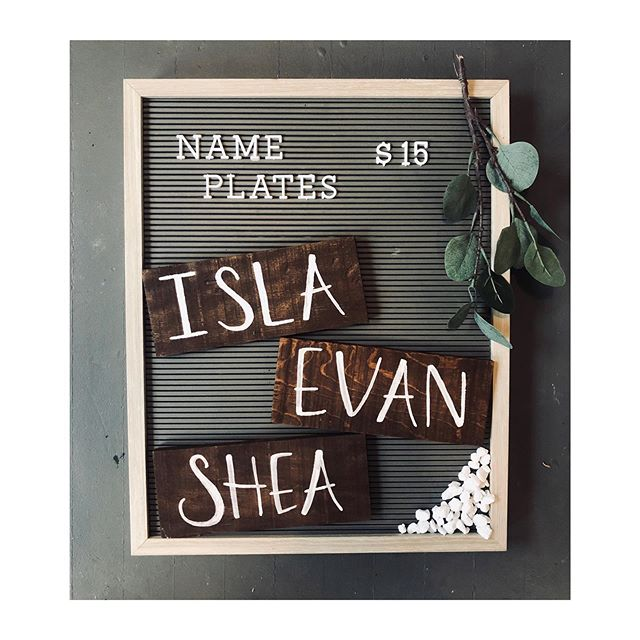 Limited time offer! $15 Name Plates ✨  Perfect for a nursery, kids room, door sign, cubbies, or as a gift!  Send me a DM or email to coastaldesignstudio103@gmail.com to order yours!  Shipping available.  #nameplate #woodsign #kidsroomdecor #nurserydecor #nurseryinspo #nursery #nurseryroom #kidsroom #kidsroomdecor