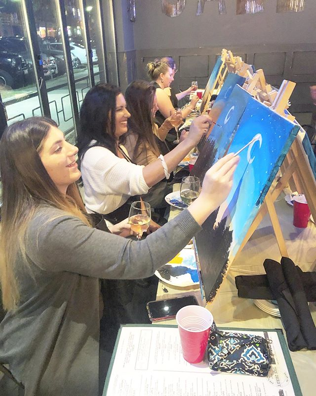 Just doin' what I love and lovin' what I do! 8 months ago I hosted my first paint night. And it's nights like tonight that remind me how blessed I am to be able to share what I am passionate about with the community! Thank you @regulate_yours for having me host your fundraiser and @thederbysalem for letting us take over your awesome space 🎨✨