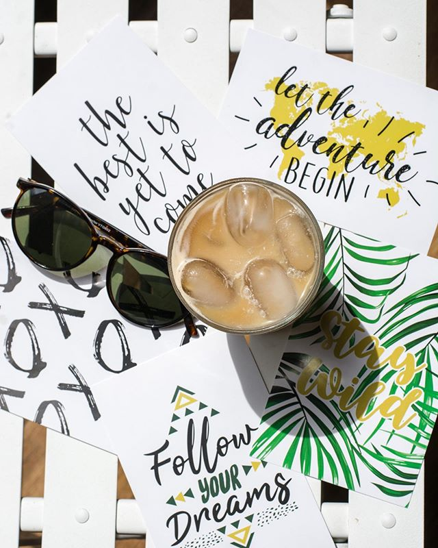 Happy humpday! Hope you're day is full of coffee and inspiration ✨ ——— Double tap if your an iced coffee over hot coffee kind of person, no matter how cold it is outside 😂 ... ... ... New blog post is UP🙌🏻 it's allll about hand-lettering and calligraphy! Something I absolutely looove to do when I get the chance. You can learn it too! Check out the blog link in my bio for a FREE Downloadable practice sheet ✍🏼 ... ... #calligraphy #handlettering #practicemakesperfect #inspiration #justdoit #diybusiness #diy #diycrafts #humpdayvibes #icedcoffee #blog #blogpost #coastaldesignstudio