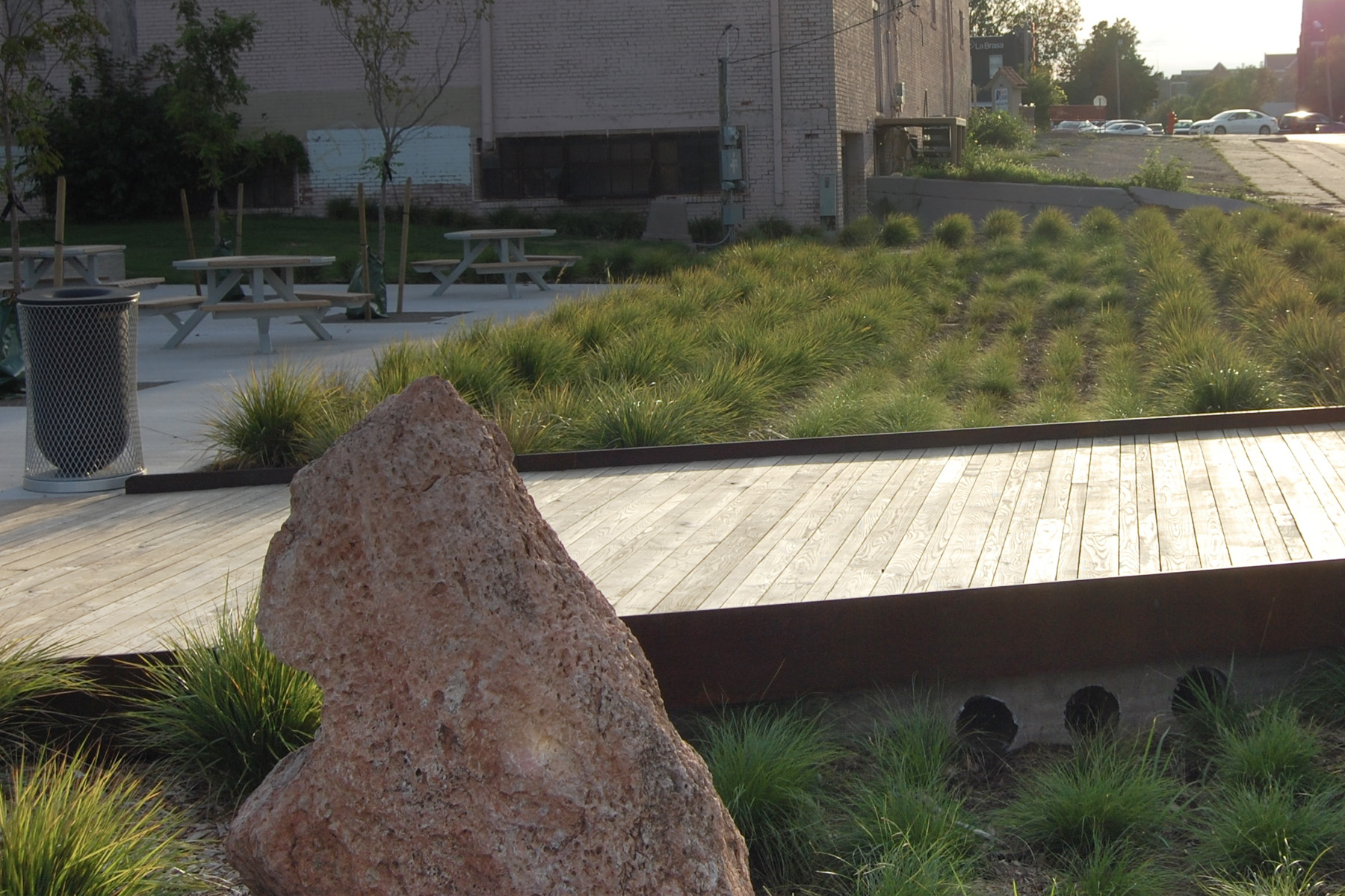 Natural Systems - Strongly rooted in horticulture and ecological design, LAUD Studio deftly inserts natural living systems into each project. From public parks to urban infill, green field to brown field, LAUD Studio utilizes its background in planting design to create comfortable places that attract visitors and provide a pleasing environment. Yet, underlying these places of beauty are additional layers of ecosystem services that allow the spaces to function ecologically and efficiently.