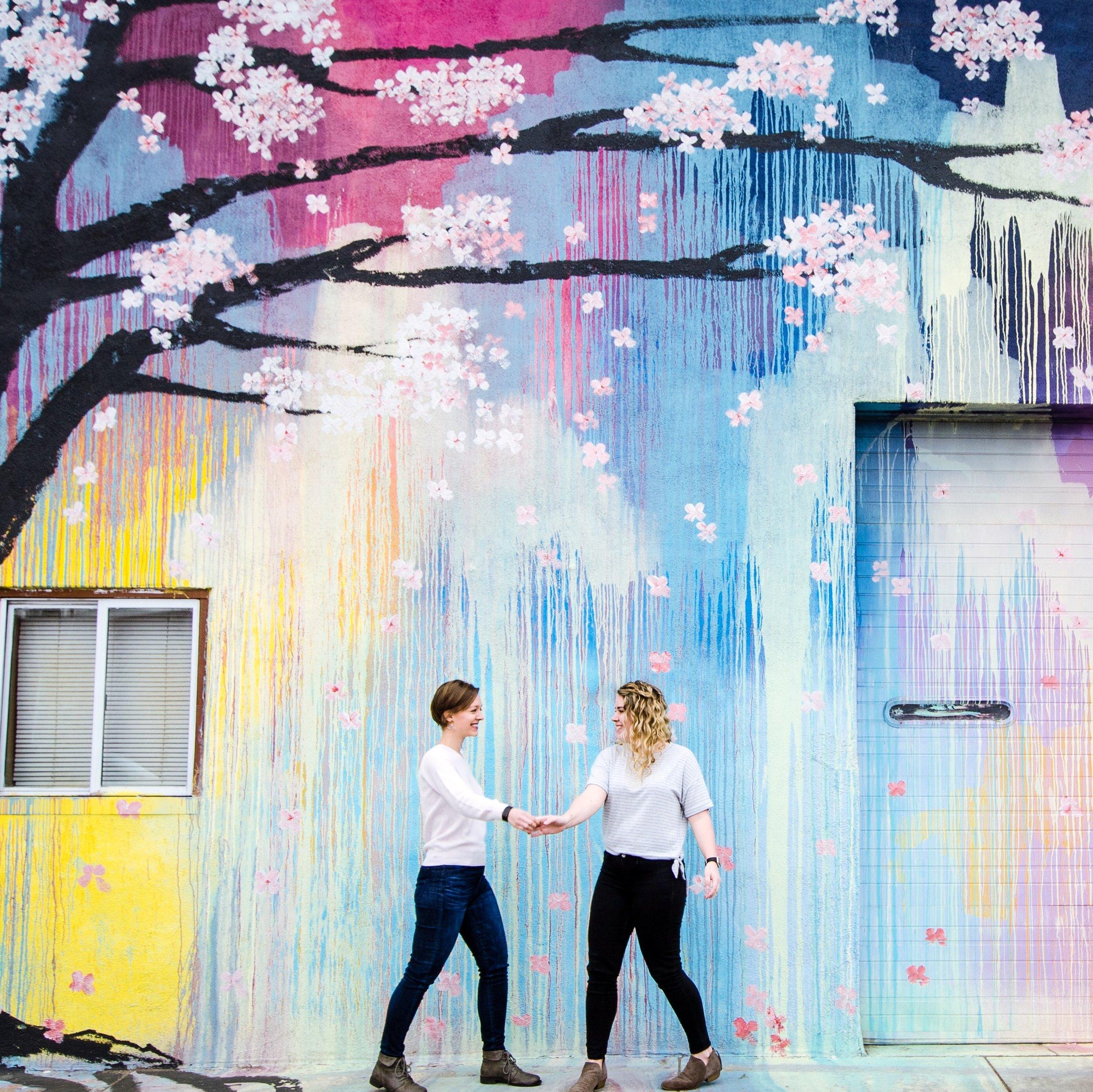 Denver Cherry Blossom Mural | Twofemmegems
