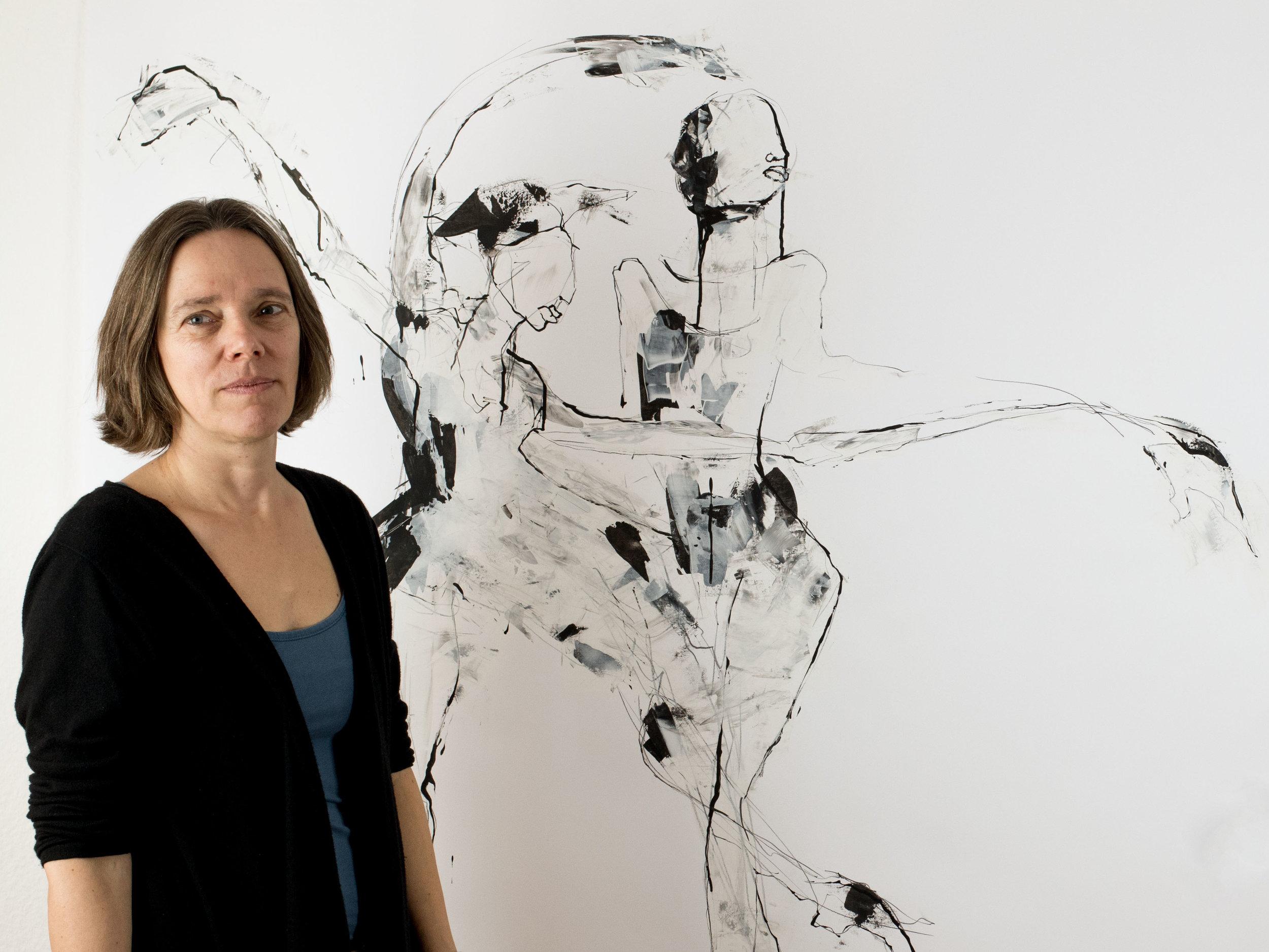 »Wenn ich zeichne, läuft die Zeit nicht gradlinig für mich, manchmal habe ich das Gefühl, ich sehein einer Art von Zeitlupe.« - Ruth Tauchert