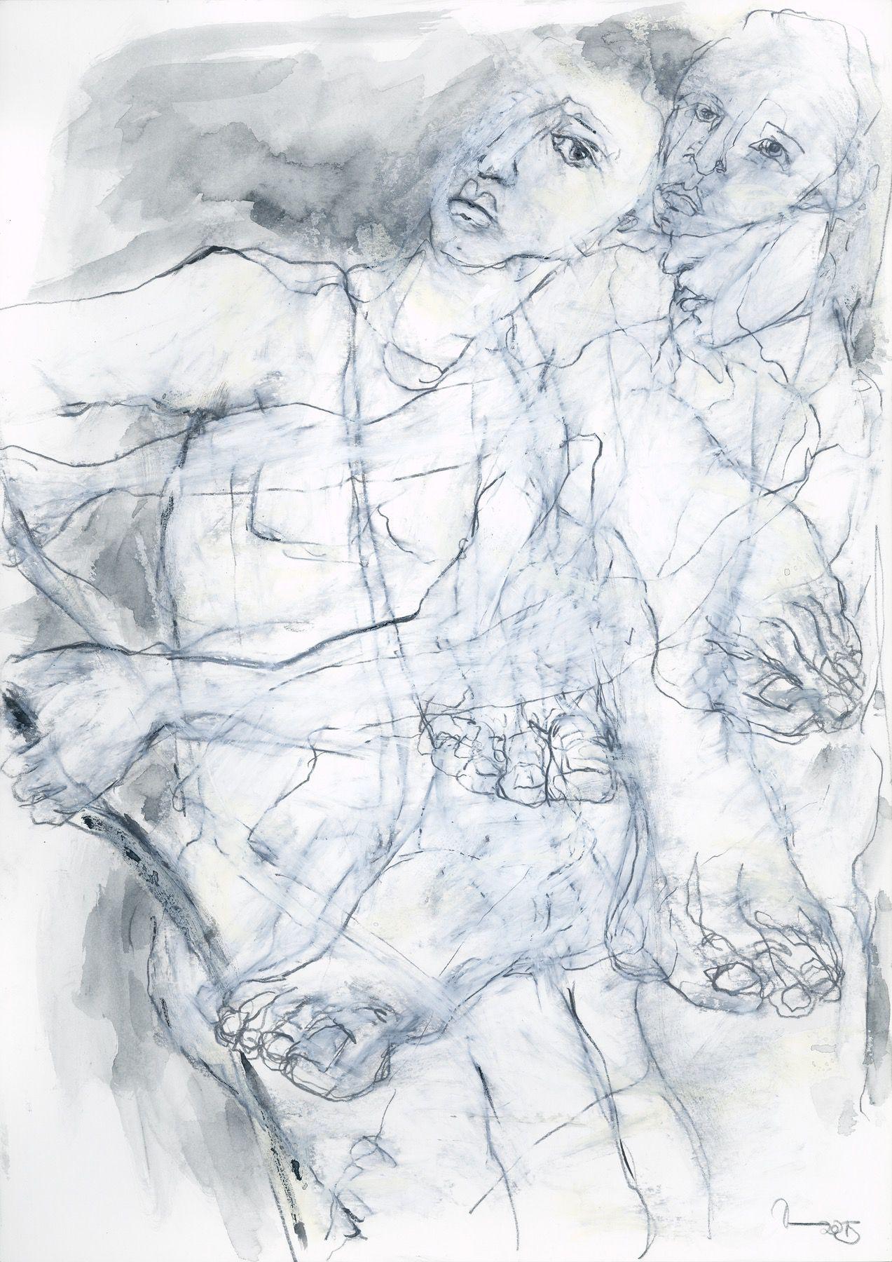 """""""Eros"""" 42 x 29,7 cm Mischtechnik auf Papier  2015"""