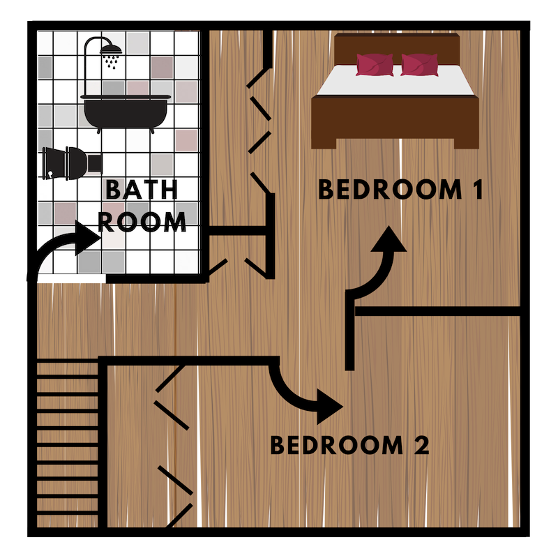 2nd Floor - Our 2 bedroom townhomes are spacious enough to accommodate anywhere between 2 to 4 people comfortably.Closets located in every bedroomHallway Linen Closets